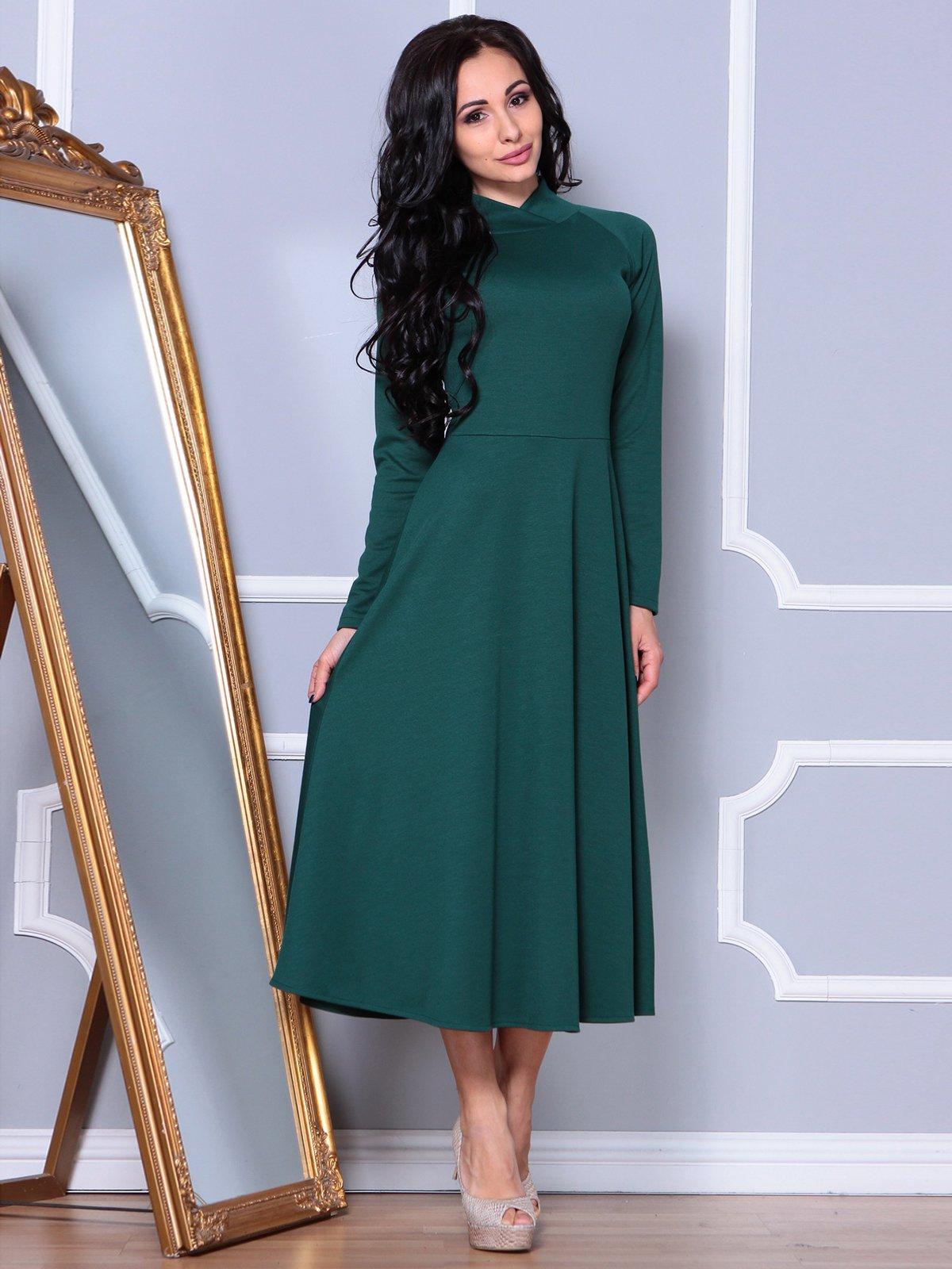 Платье изумрудного цвета | 3891737