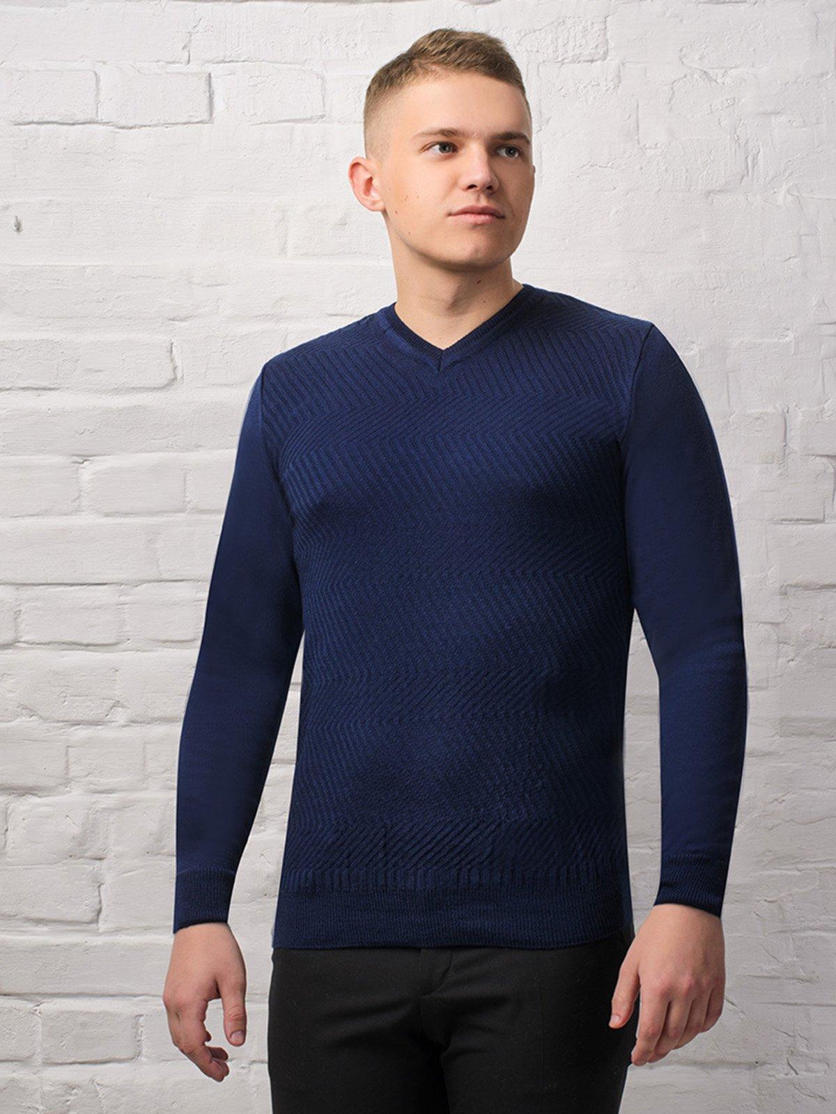 Пуловер темно-синий | 3892318