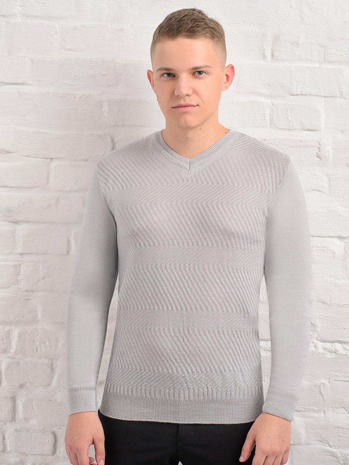 Пуловер світло-сірий   3892320