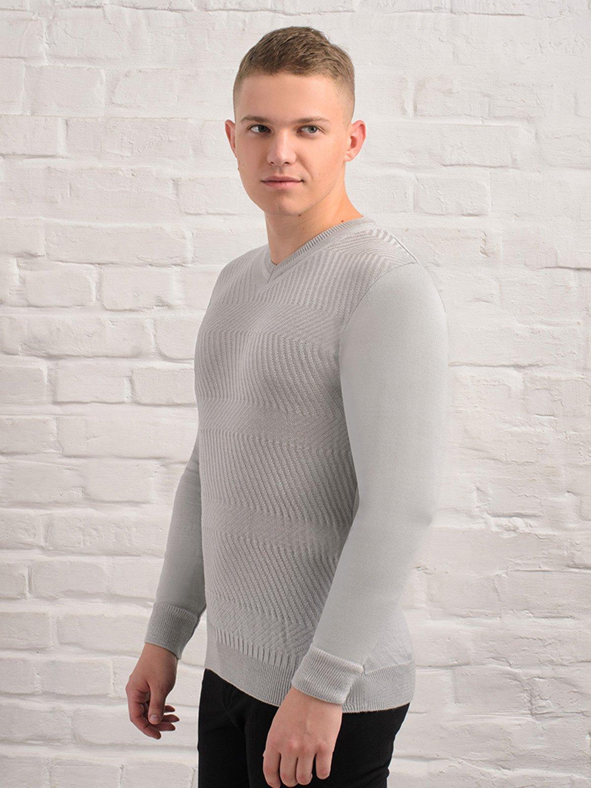 Пуловер світло-сірий   3892320   фото 2