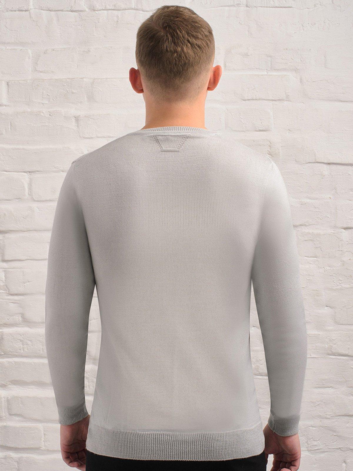 Пуловер світло-сірий   3892320   фото 3
