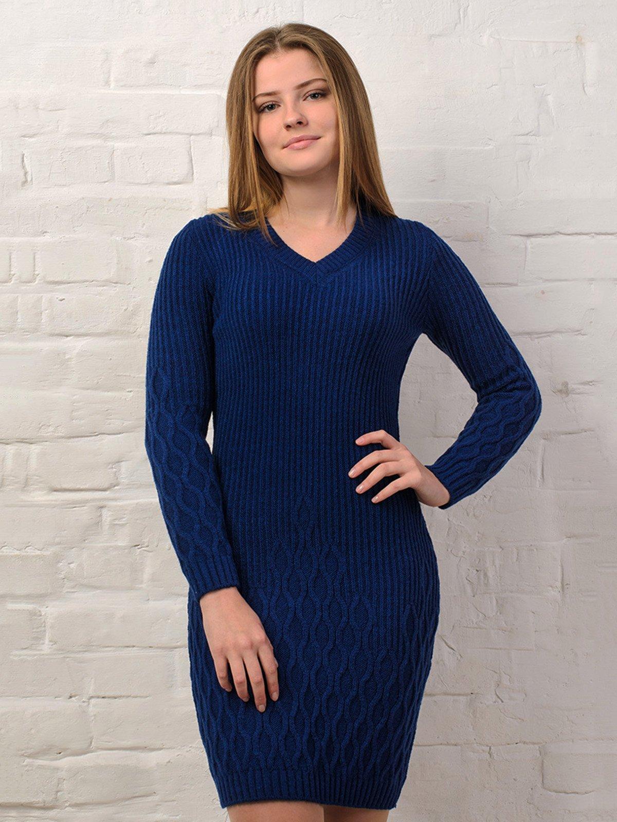 Платье темно-синее | 3892361