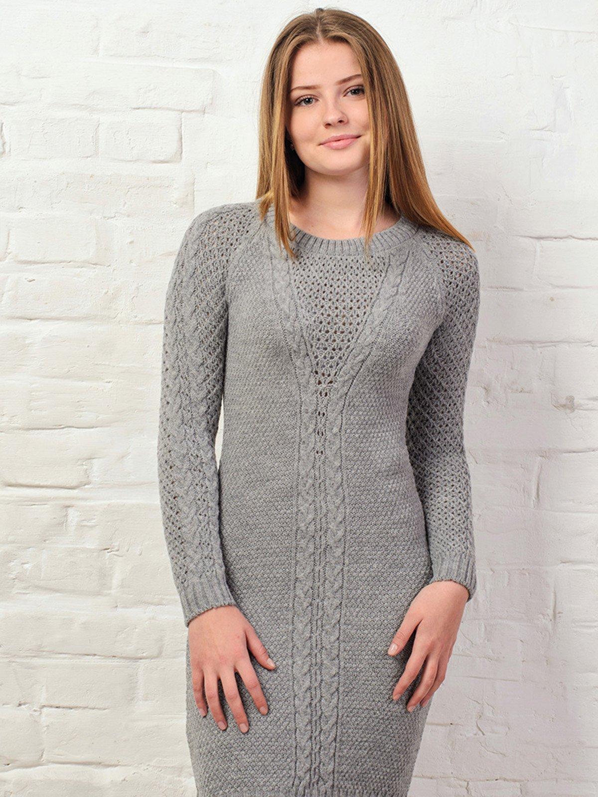 Платье светло-серое | 3892362