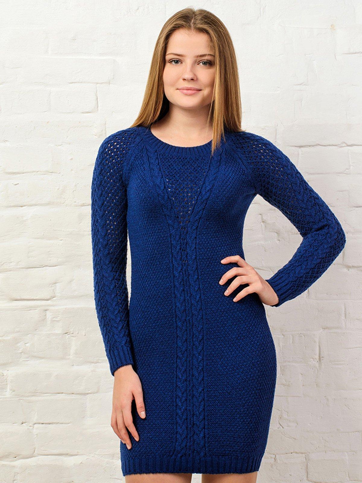 Платье темно-синее | 3892365
