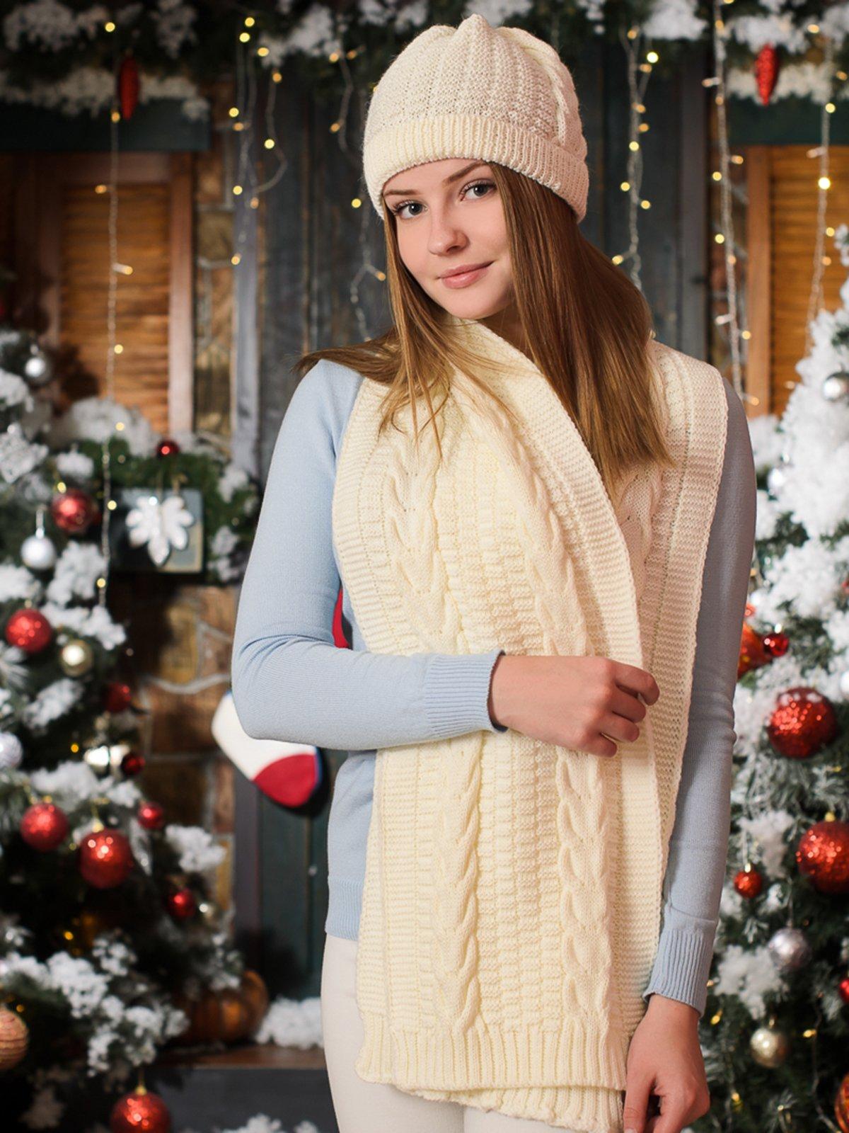 Комплект: шапка и шарф | 3892430