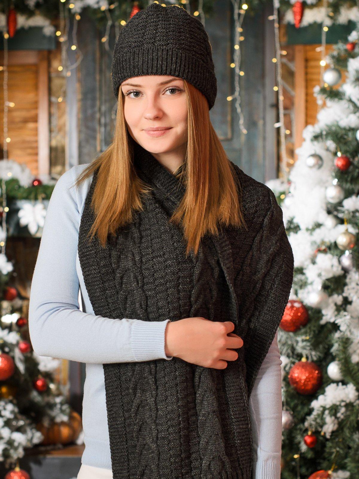 Комплект: шапка и шарф   3892431