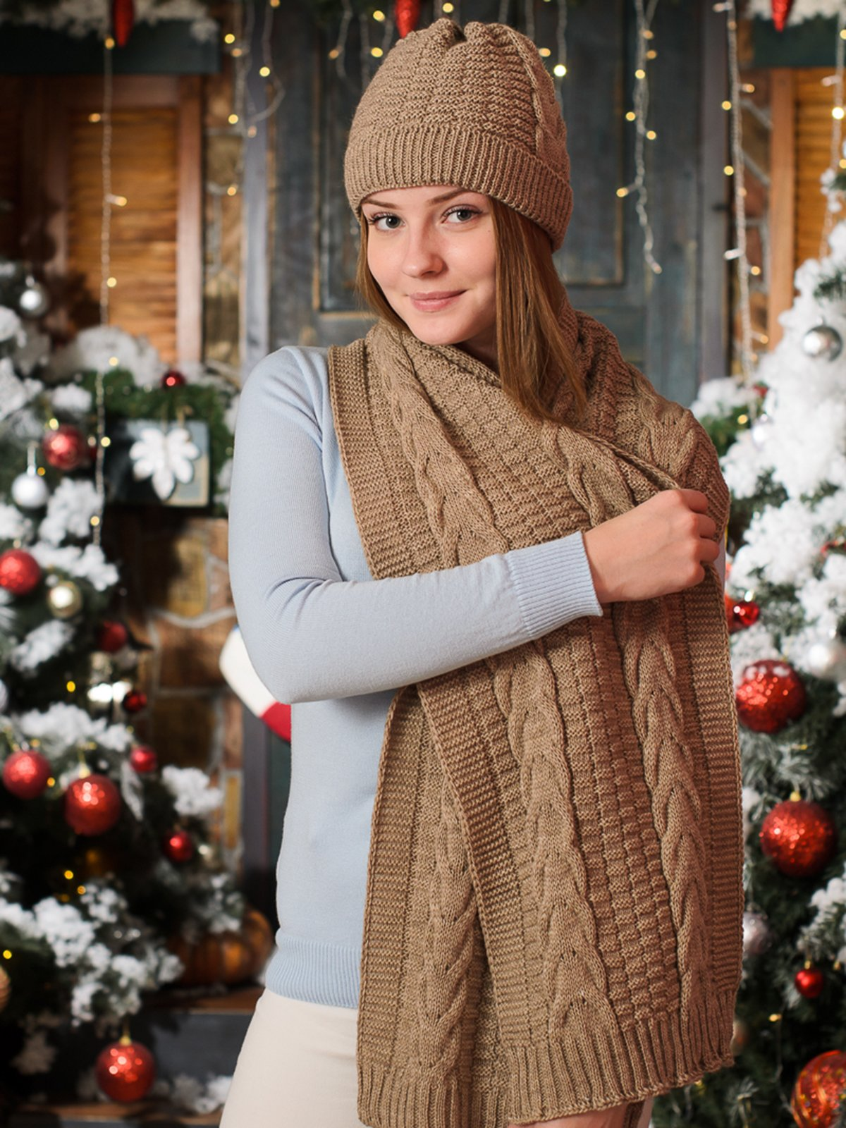 Комплект: шапка и шарф | 3892433