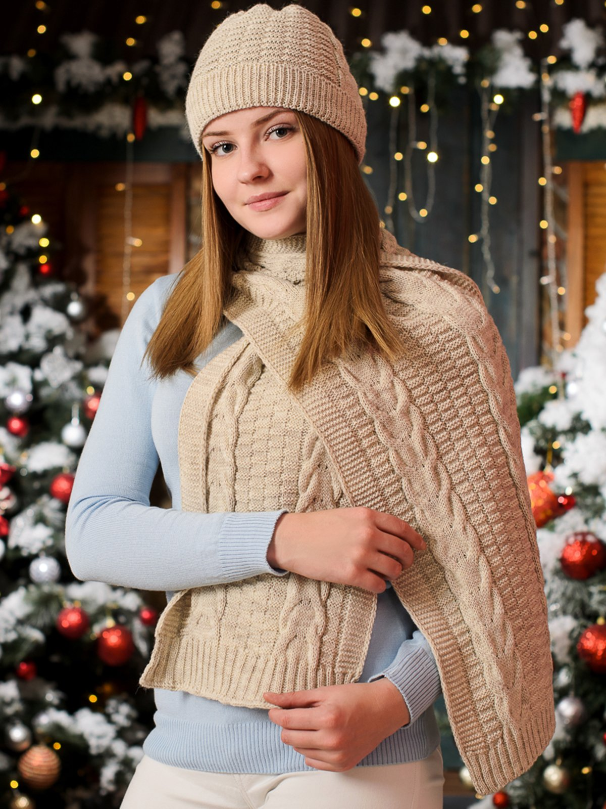 Комплект: шапка і шарф | 3892434