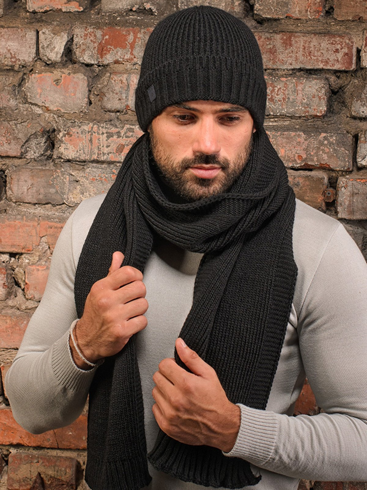 Комплект: шапка и шарф | 3892454