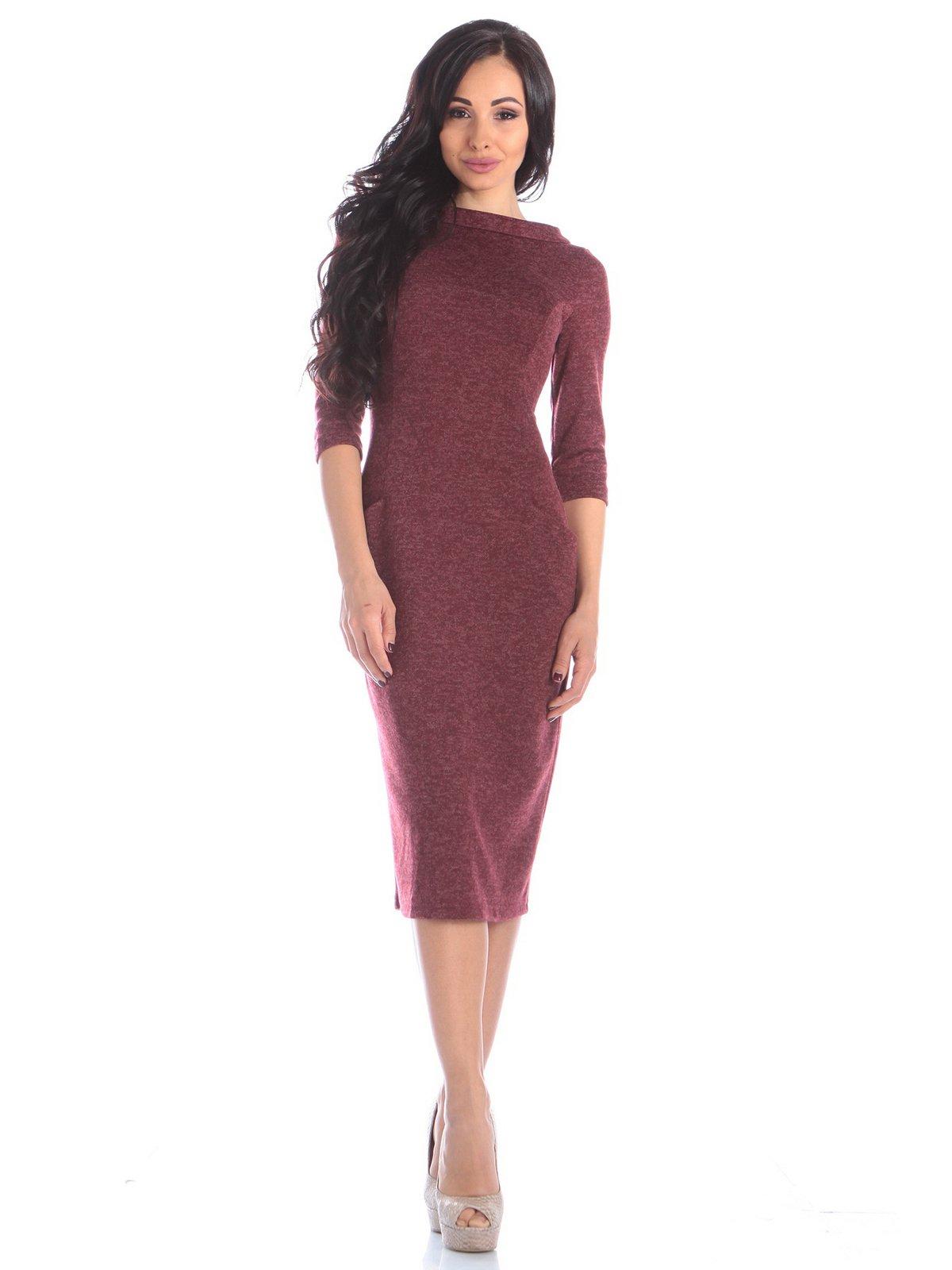Платье бордовое | 3895649