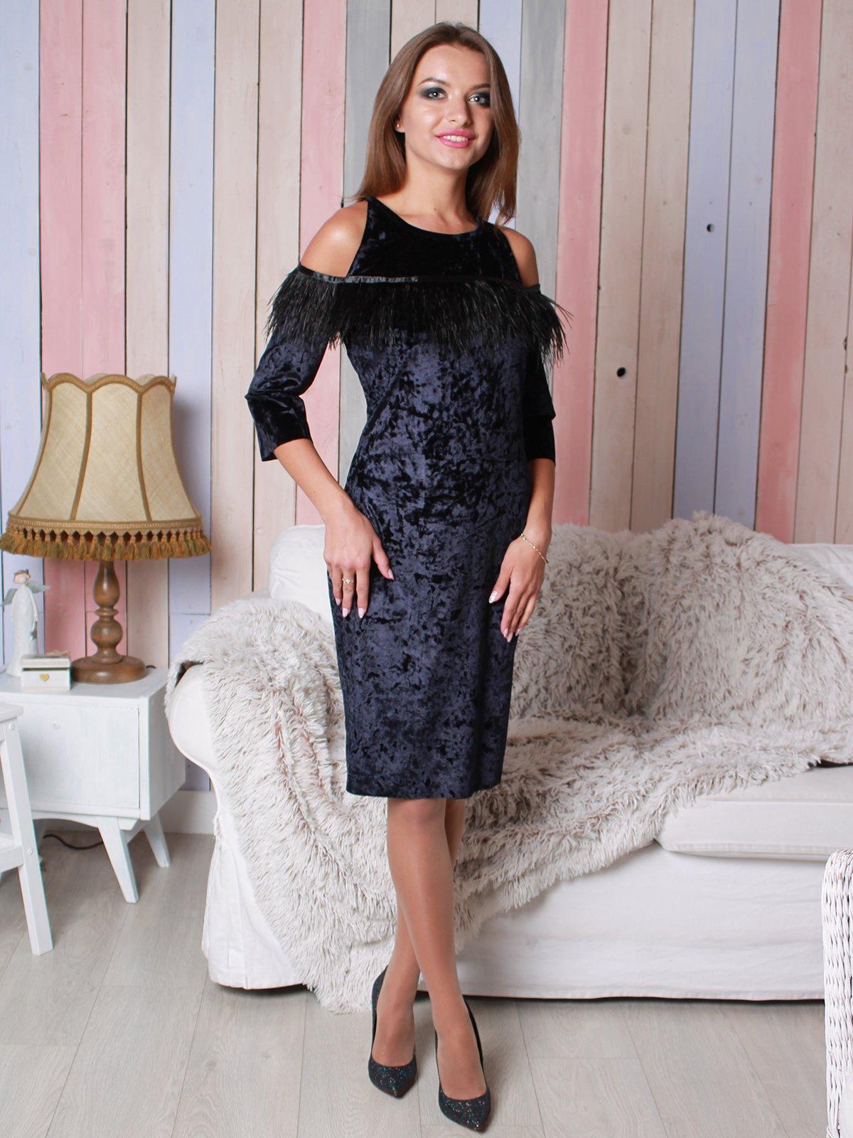 Платье темно-синее | 3896550