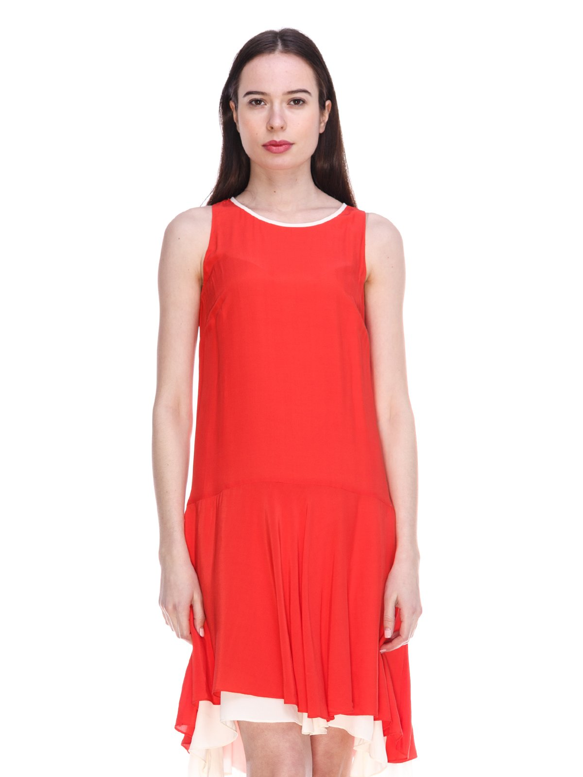 Платье красно-белое | 3897686