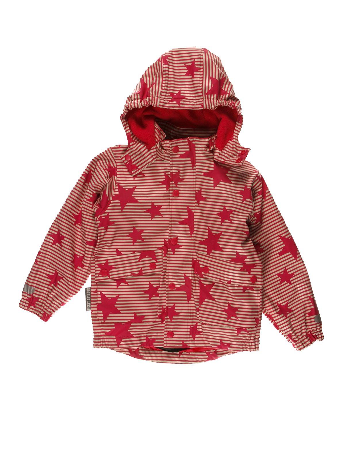 Термокуртка красная в полоску и звезды | 3878996