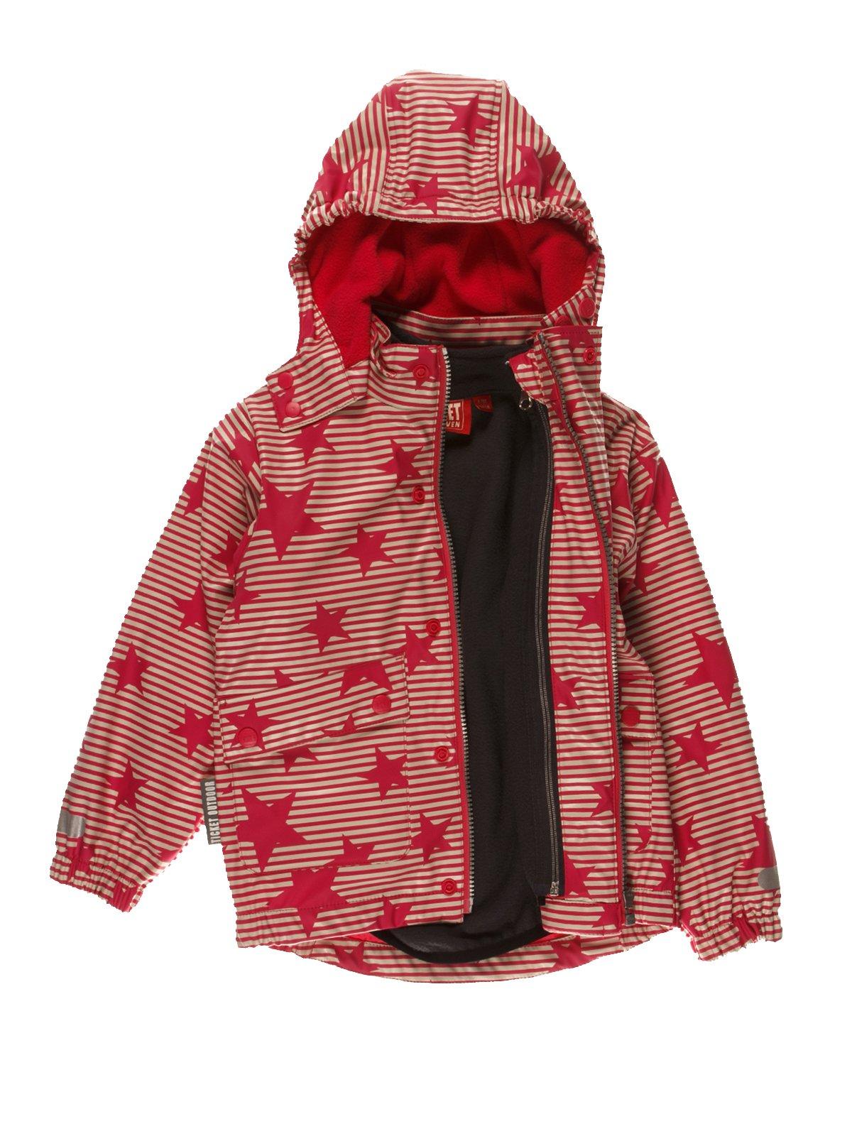 Термокуртка красная в полоску и звезды | 3878996 | фото 3