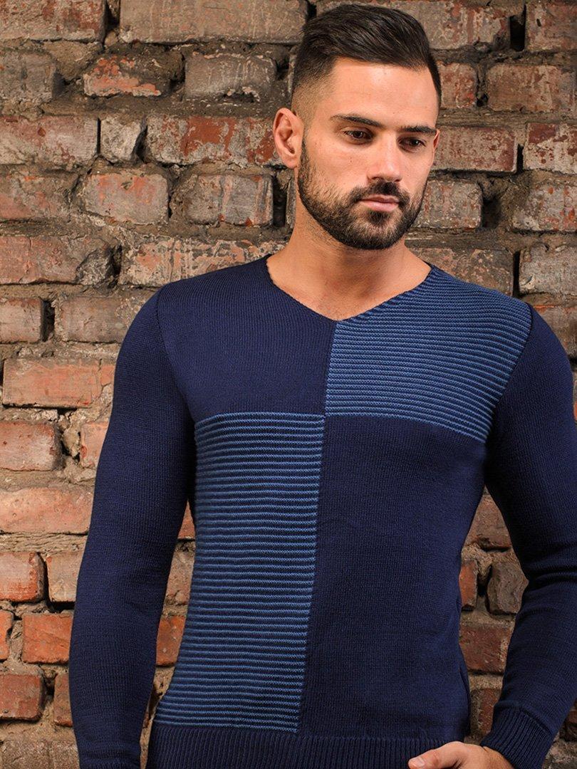 Пуловер темно-синій   3898898