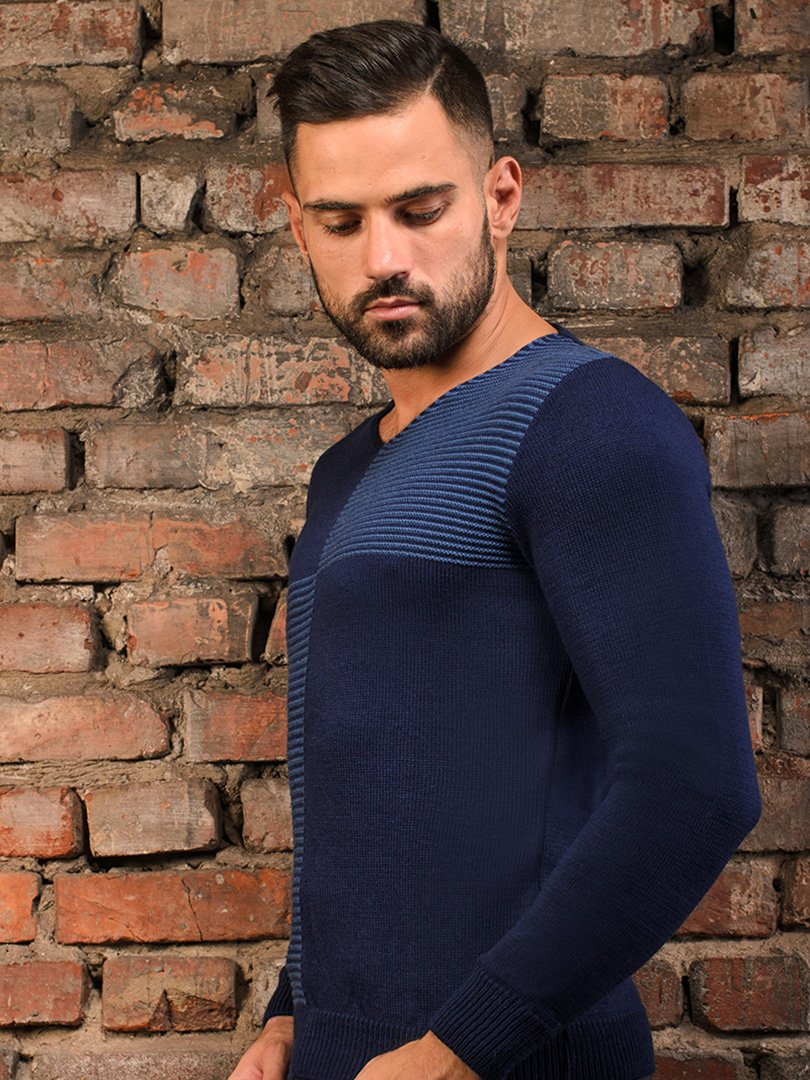 Пуловер темно-синій   3898898   фото 2