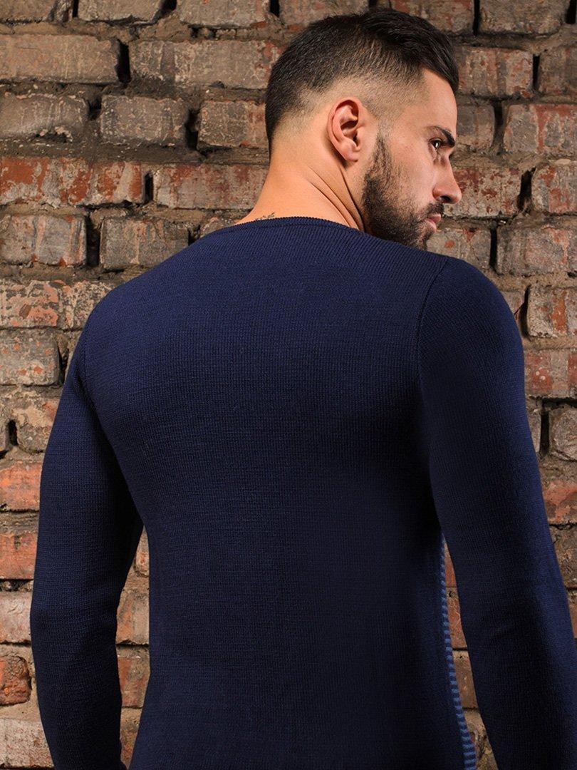 Пуловер темно-синій   3898898   фото 3