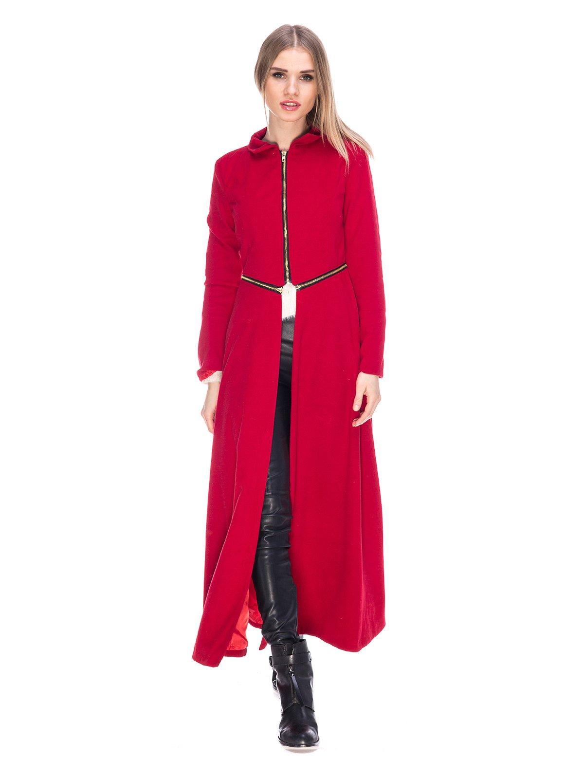 Пальто бордовое | 3575172