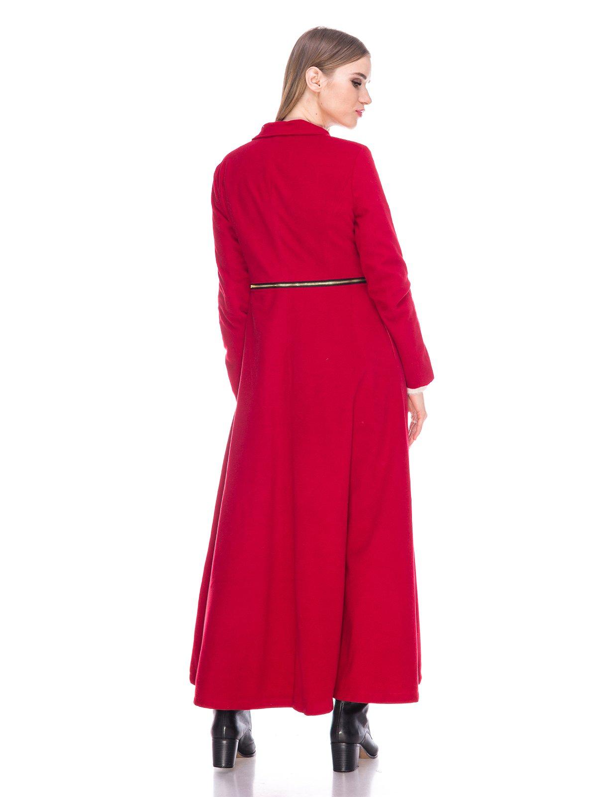 Пальто бордовое | 3575172 | фото 2