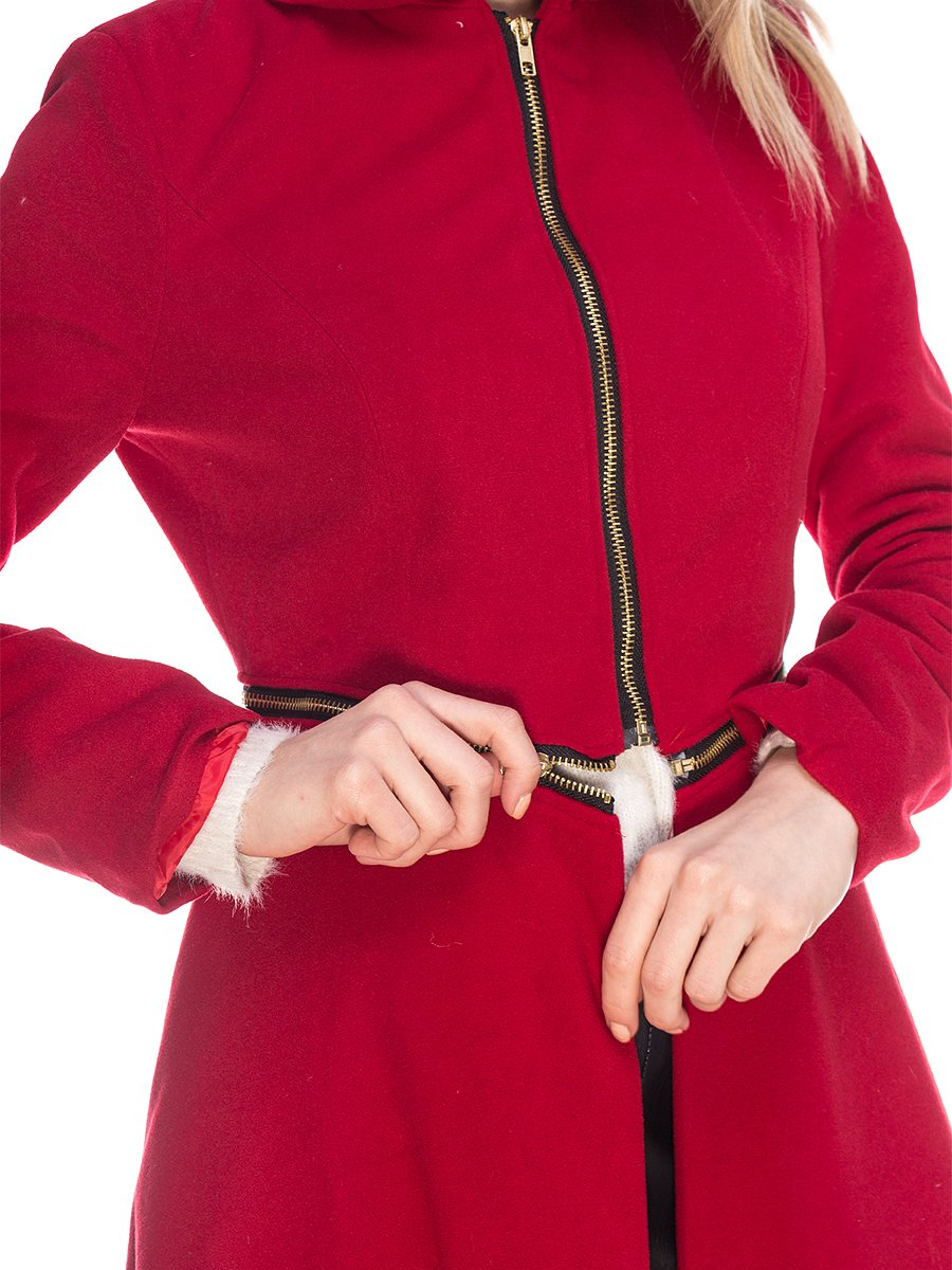 Пальто бордовое | 3575172 | фото 3
