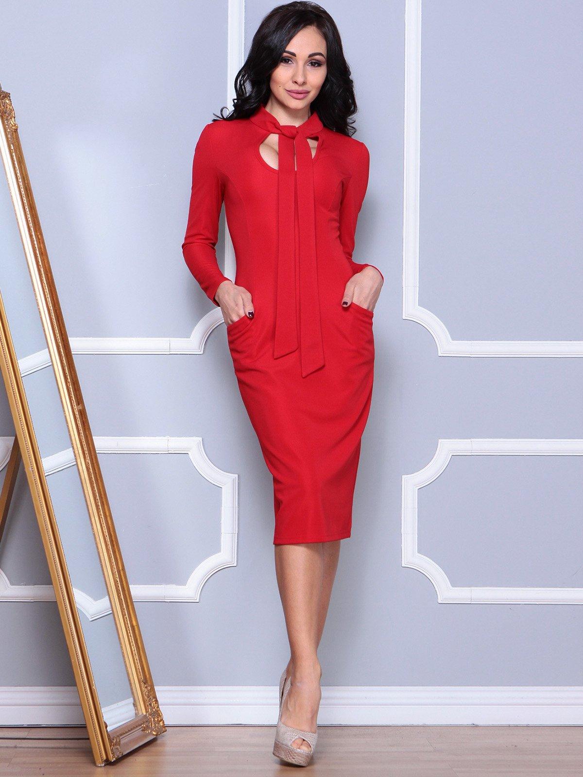 Платье красное | 3904080