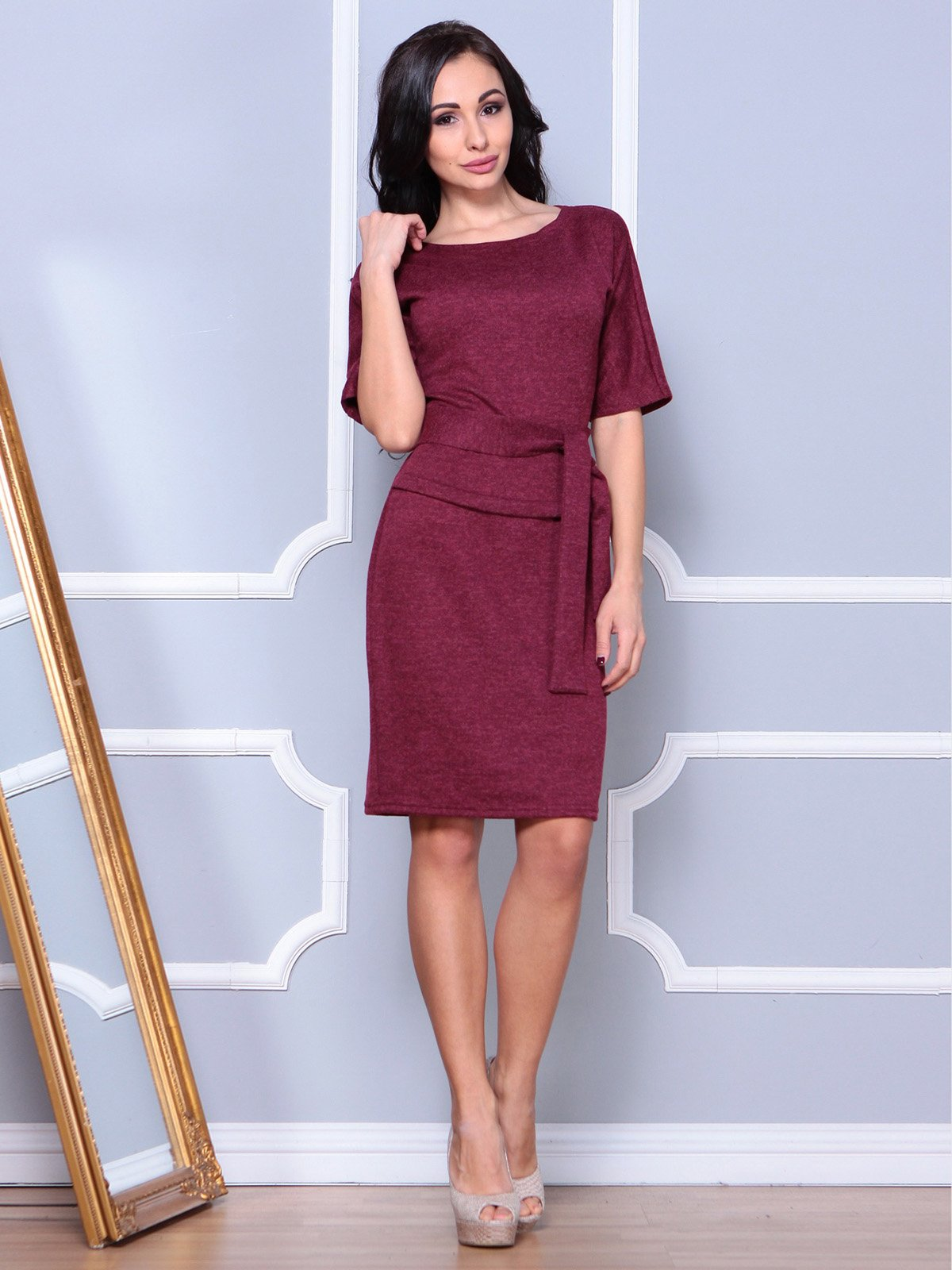 Платье бордовое | 3904086