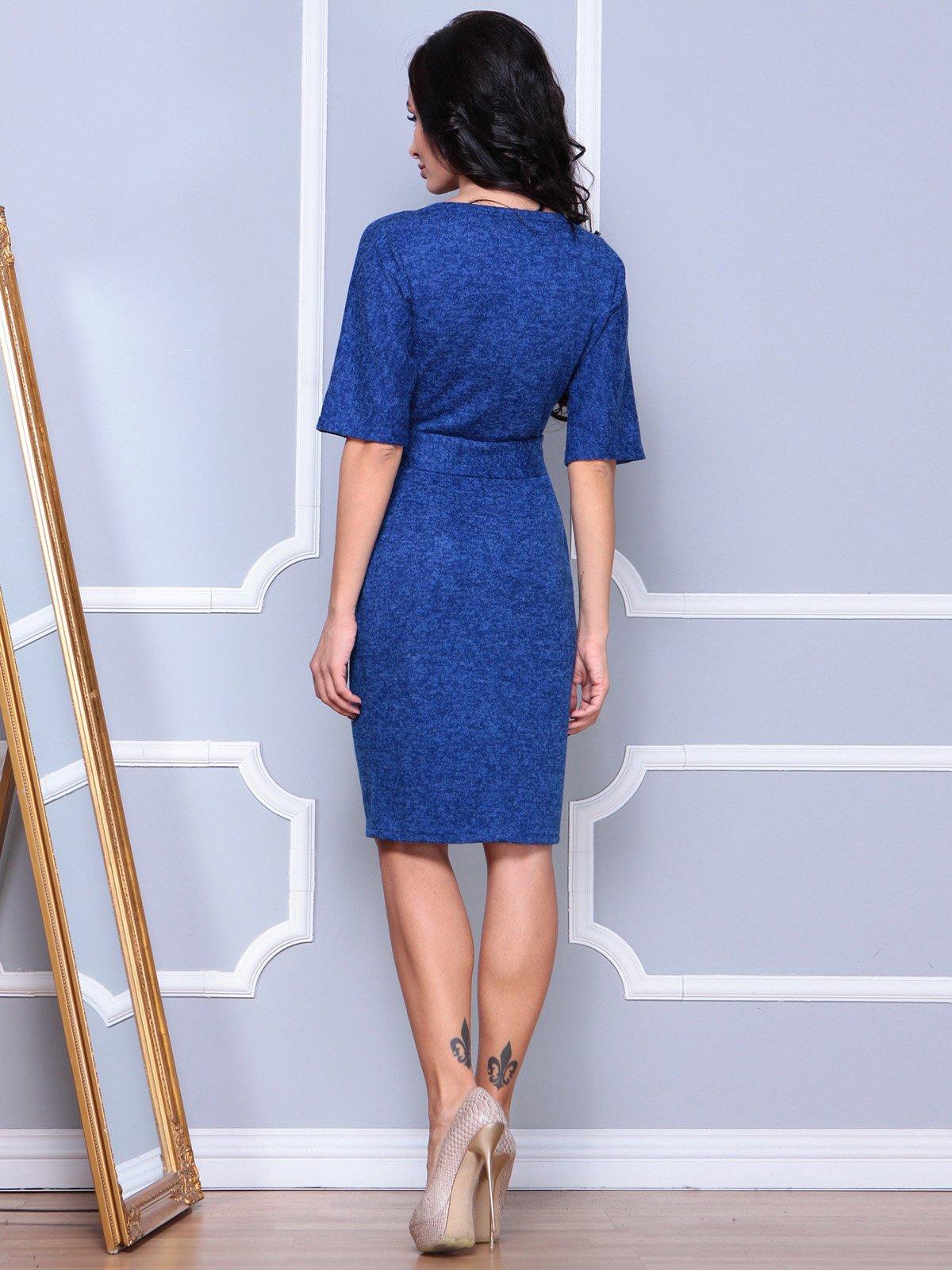 Платье цвета темный электрик | 3904090 | фото 2