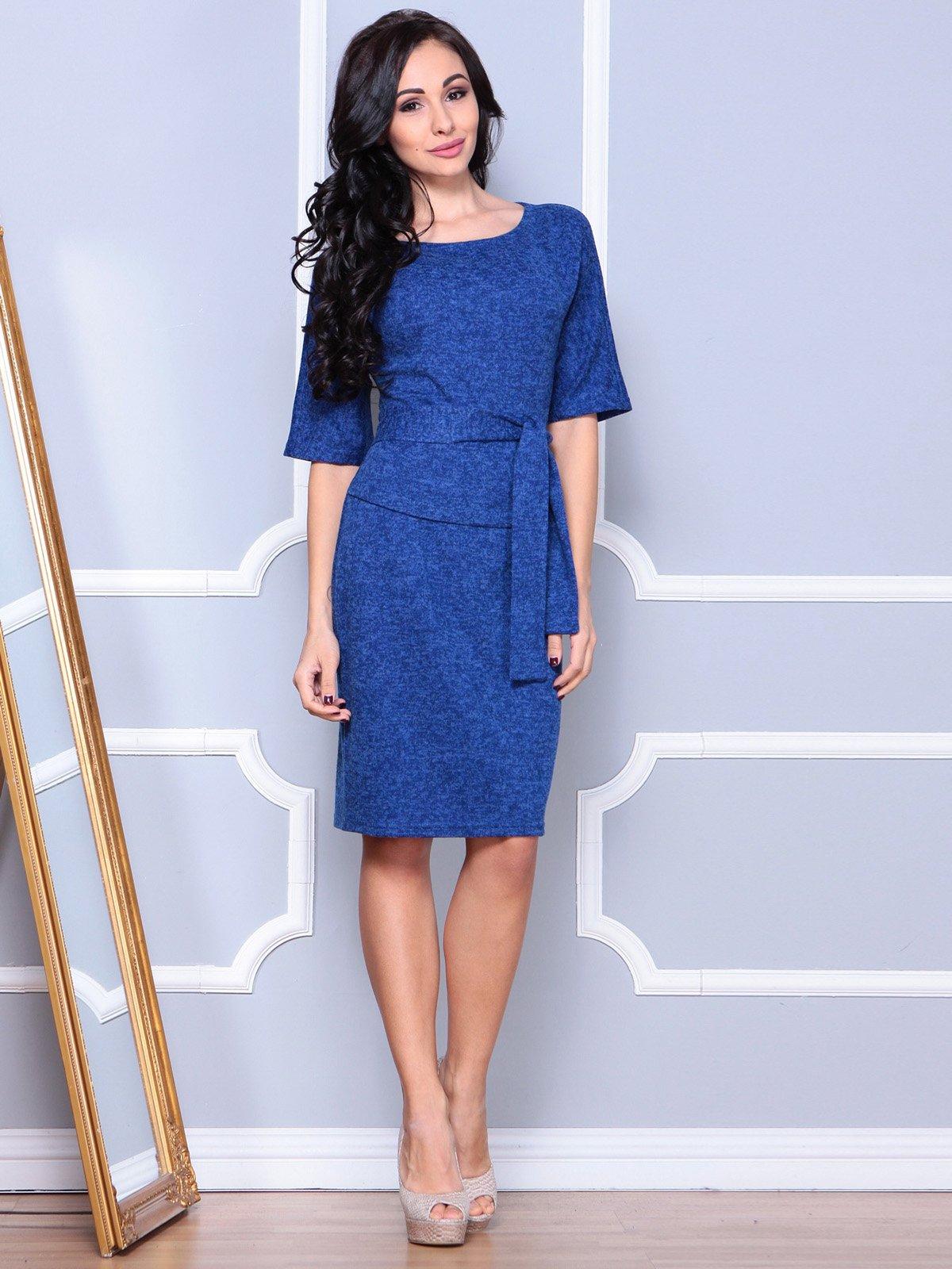 Платье цвета темный электрик | 3904090 | фото 3