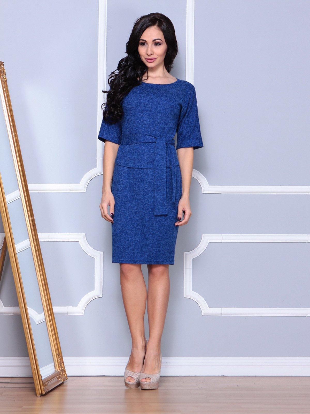 Платье цвета темный электрик | 3904090 | фото 4