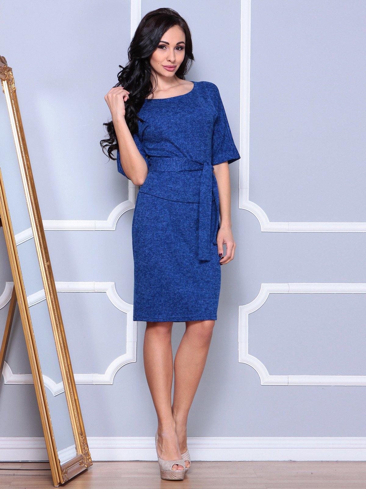 Платье цвета темный электрик | 3904090 | фото 5