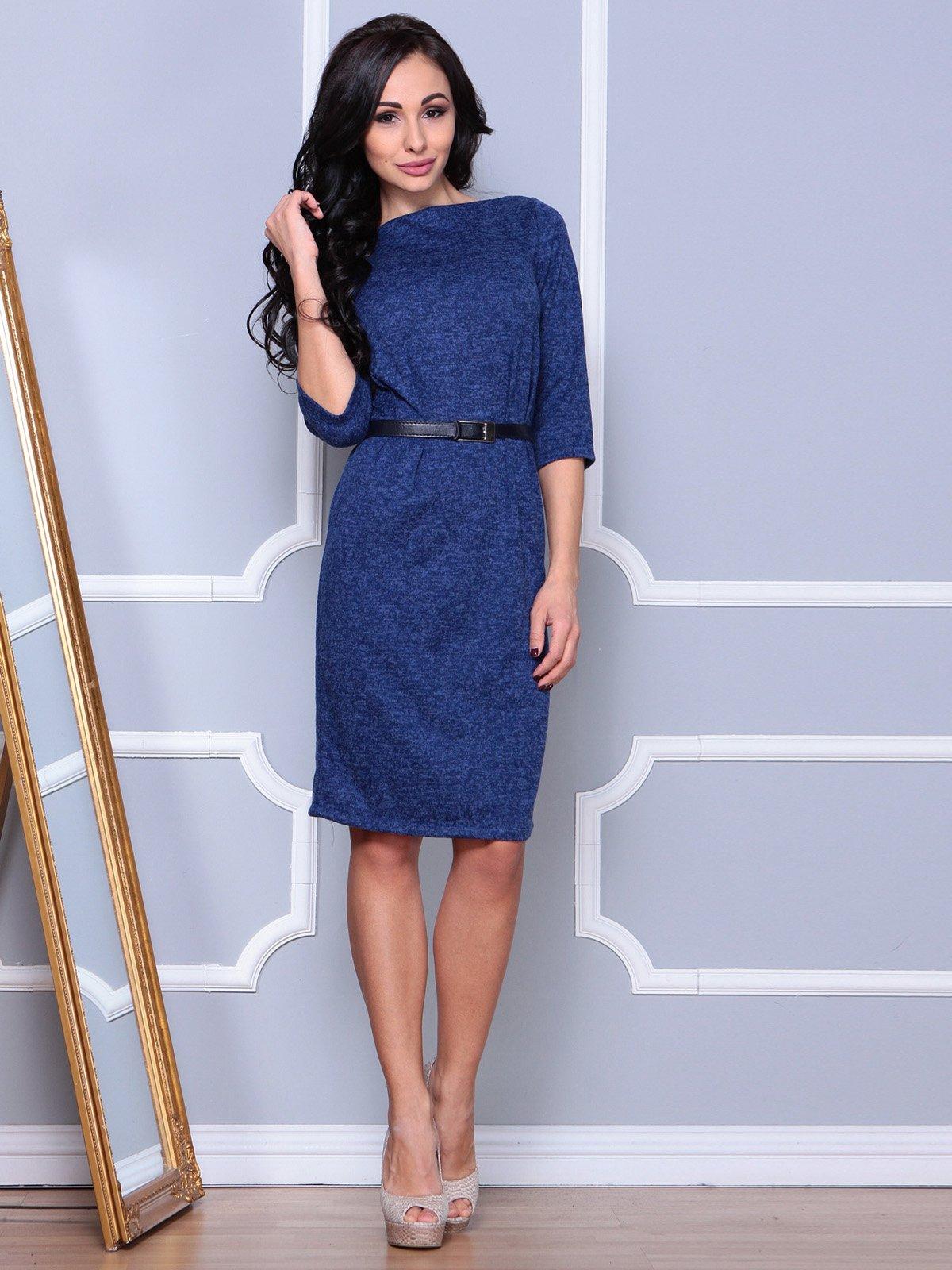 Платье цвета темный электрик | 3904097