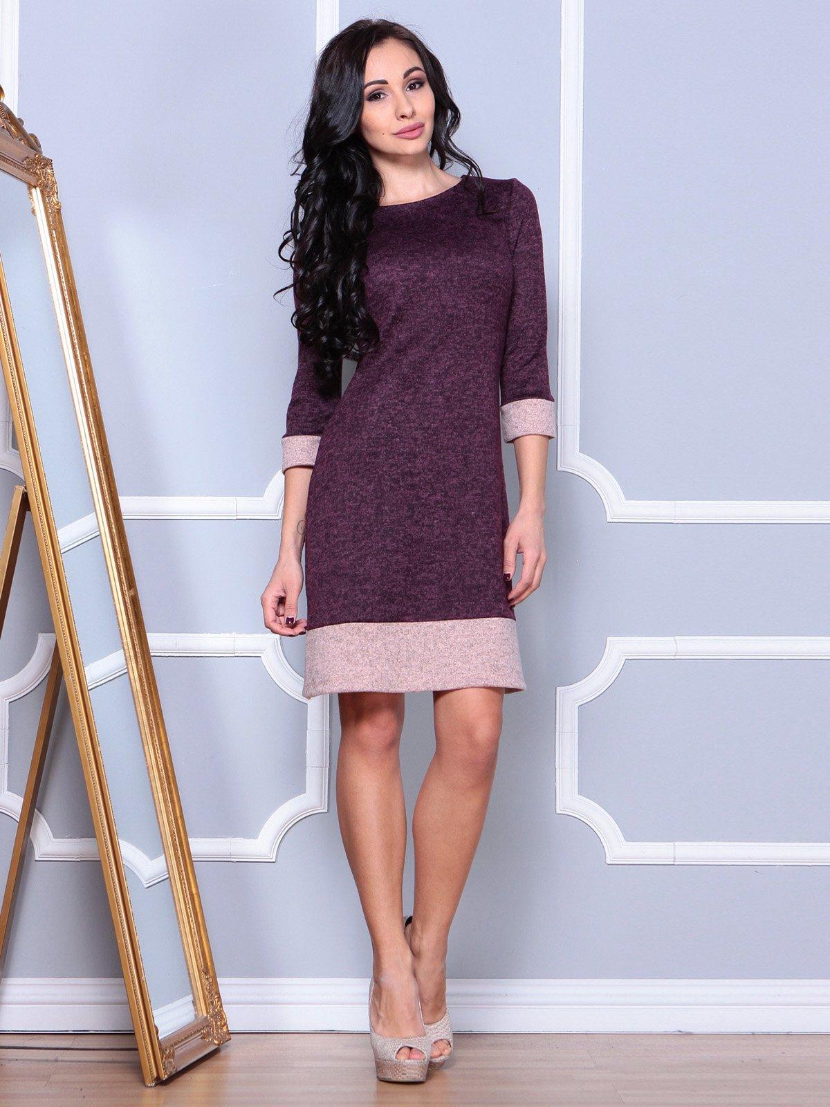Сукня кольору марсала | 3904099