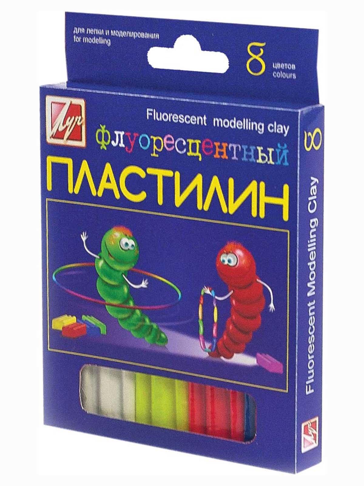 Пластилін флюоресцентний (8 кольорів) | 3906569