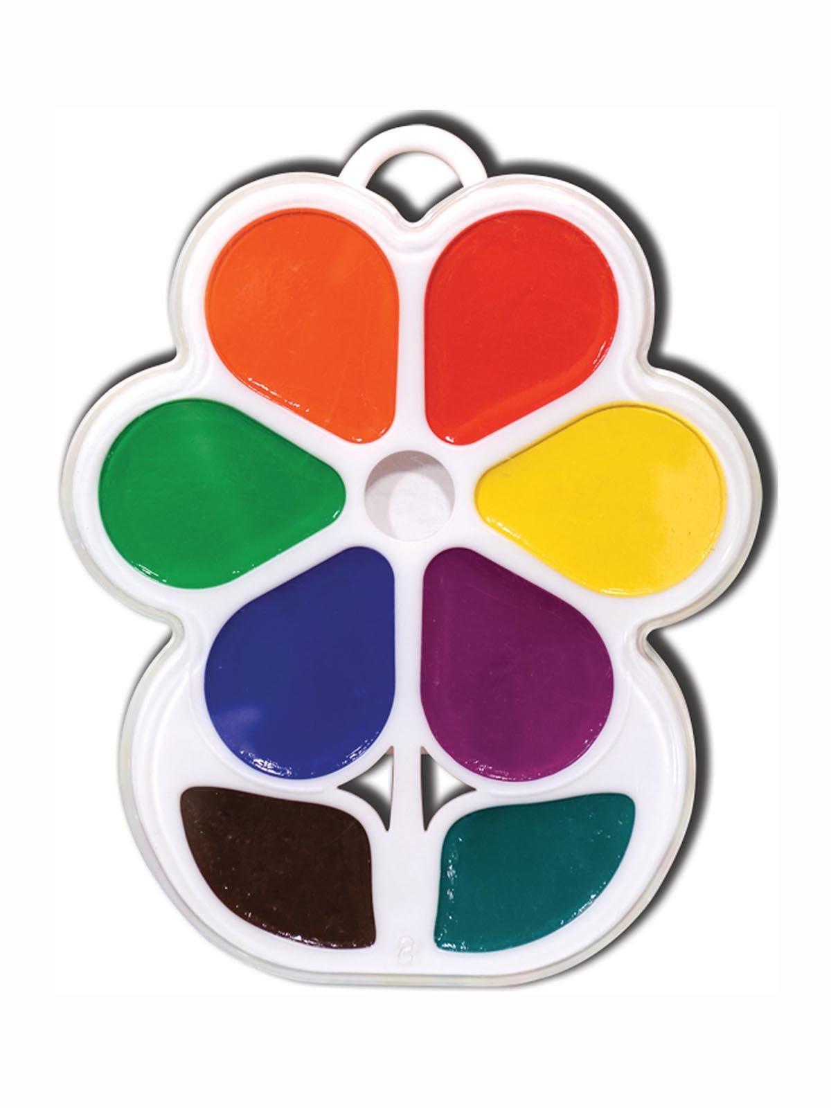 Фарби акварельні «Квіточка» (8 кольорів) | 3906626