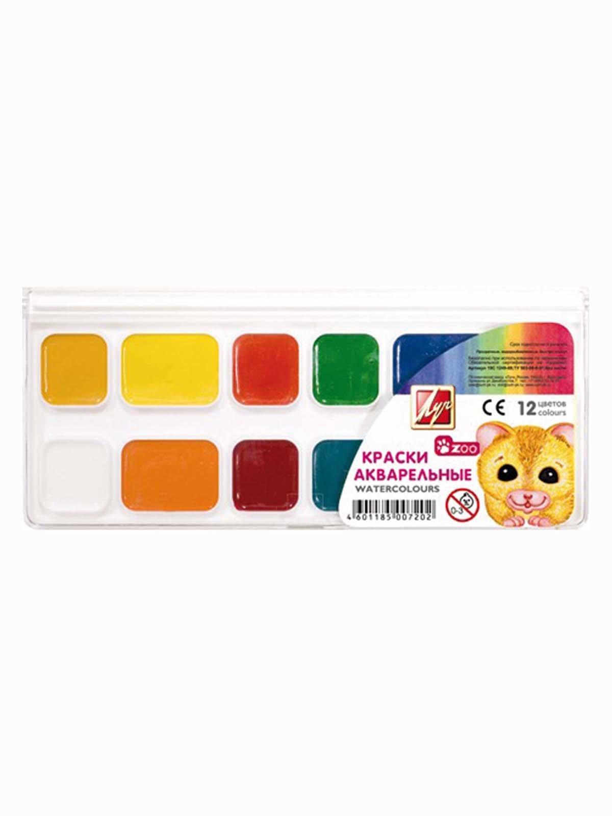 Фарби акварельні «Міні» (12 кольорів) | 3906647