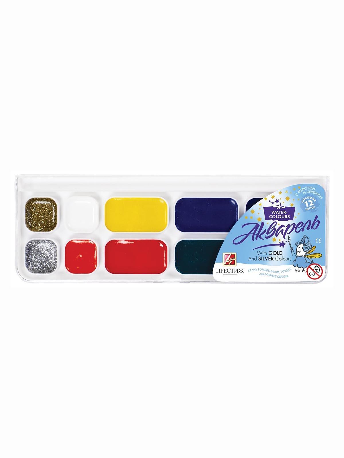 Фарби акварельні «Престиж» (12 кольорів) | 3906660