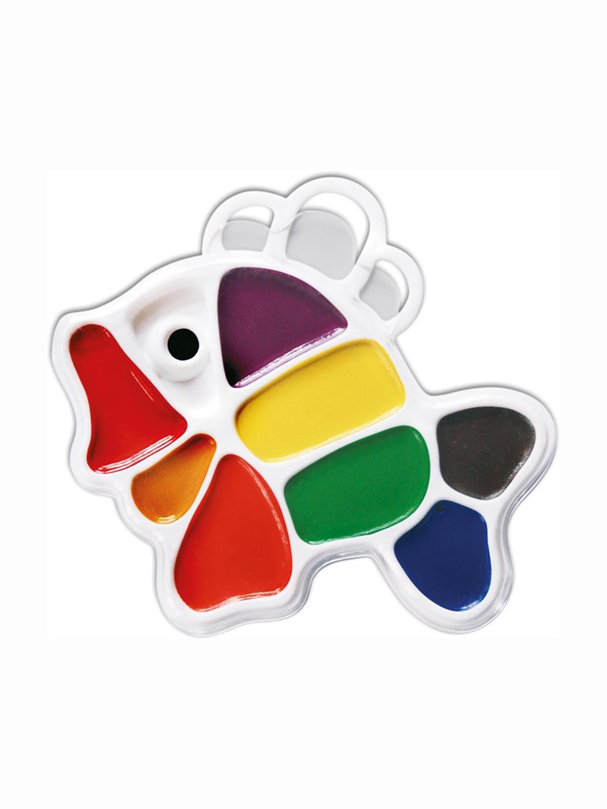 Фарби акварельні «Рибка» (9 кольорів) | 3906662