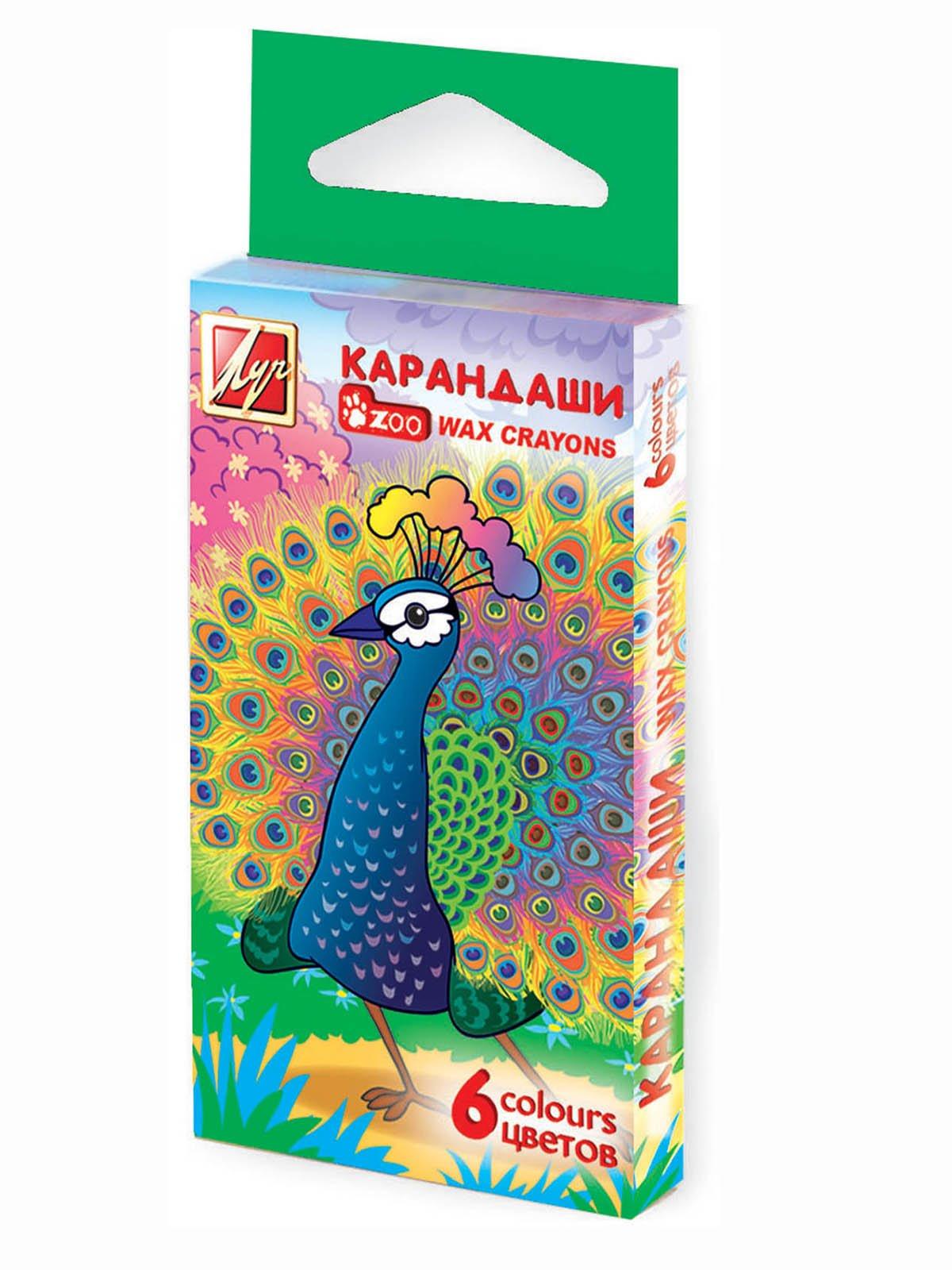 Карандаши восковые шестигранные (6 цветов)   3906689