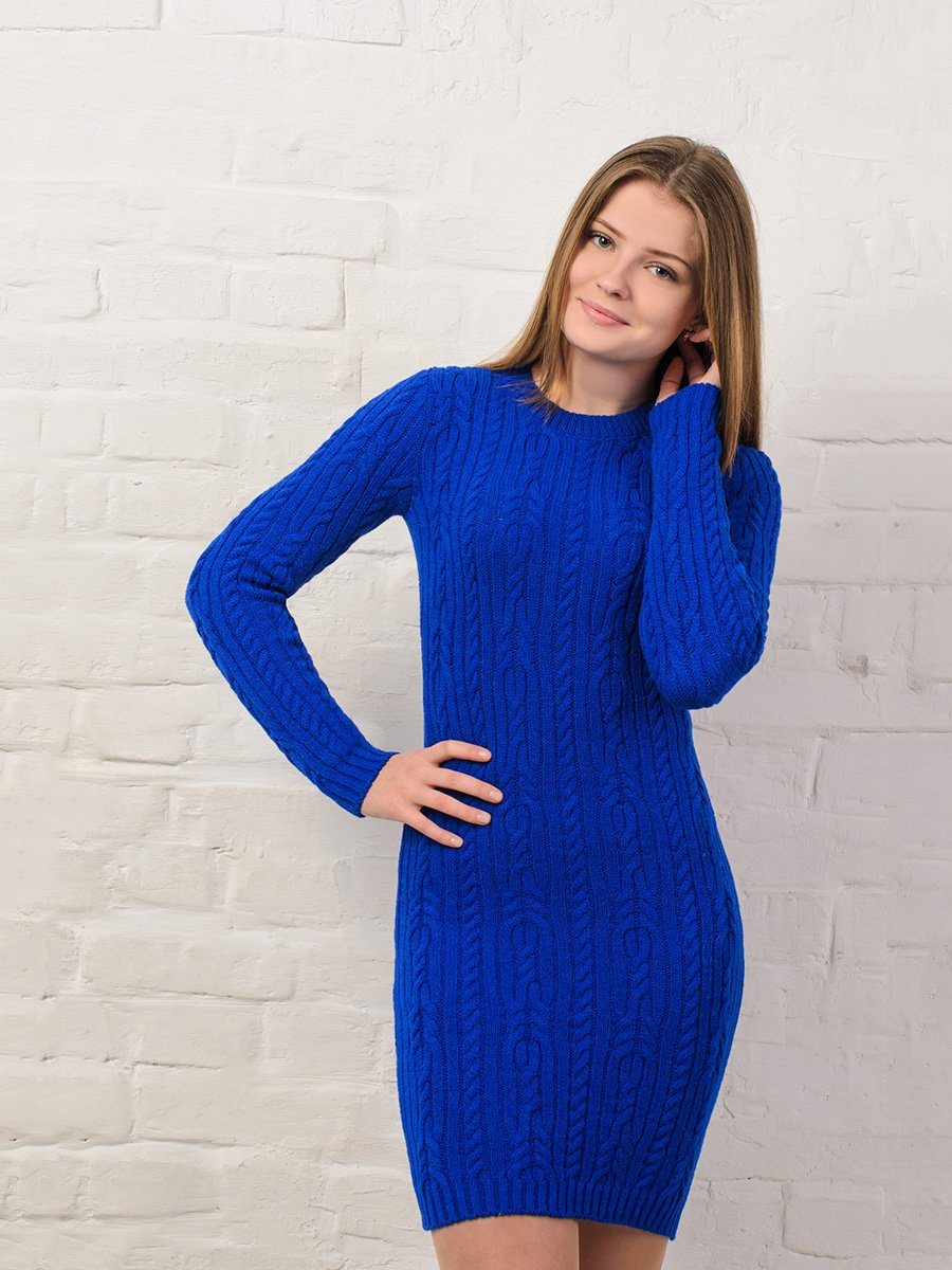 Платье синее | 3898901