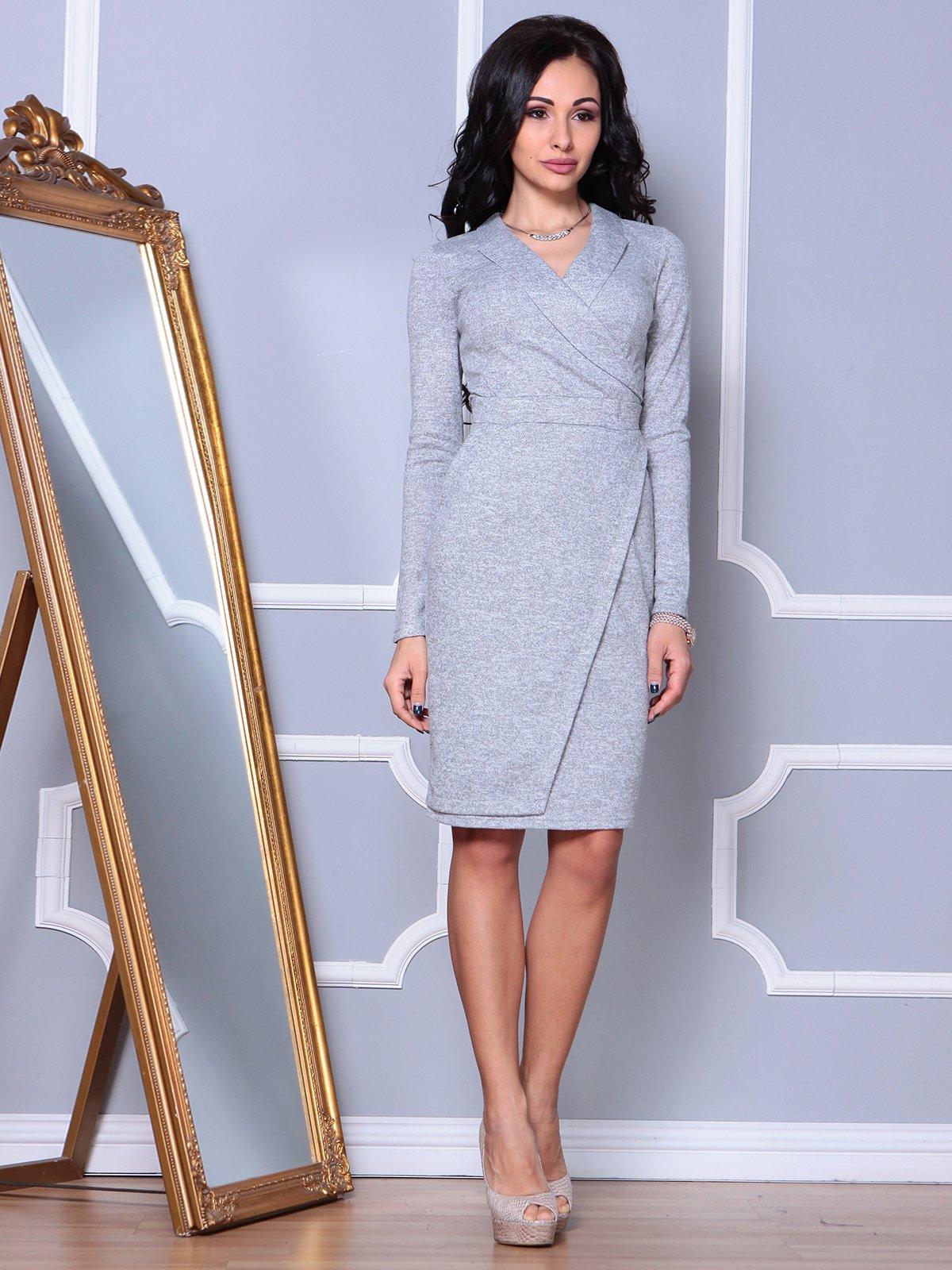 Платье светло-серое   3908194