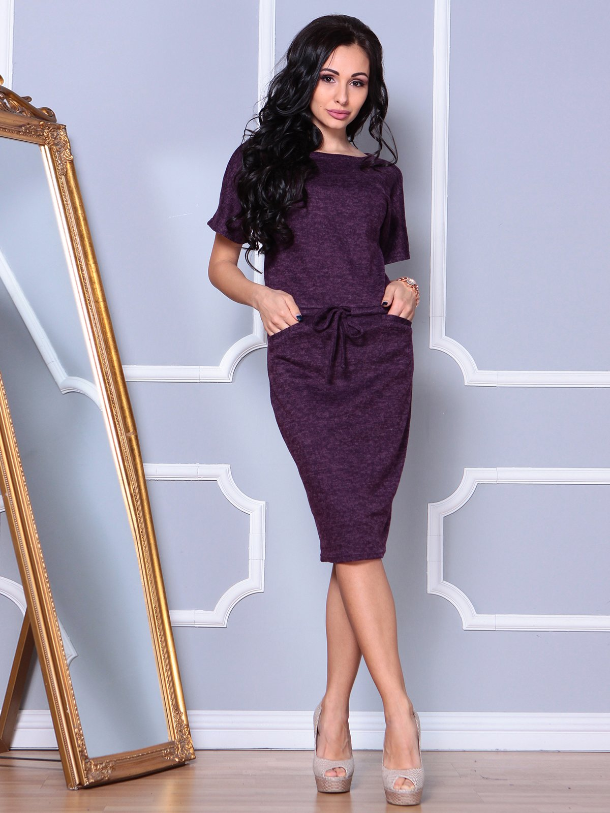 Сукня кольору марсала | 3908196