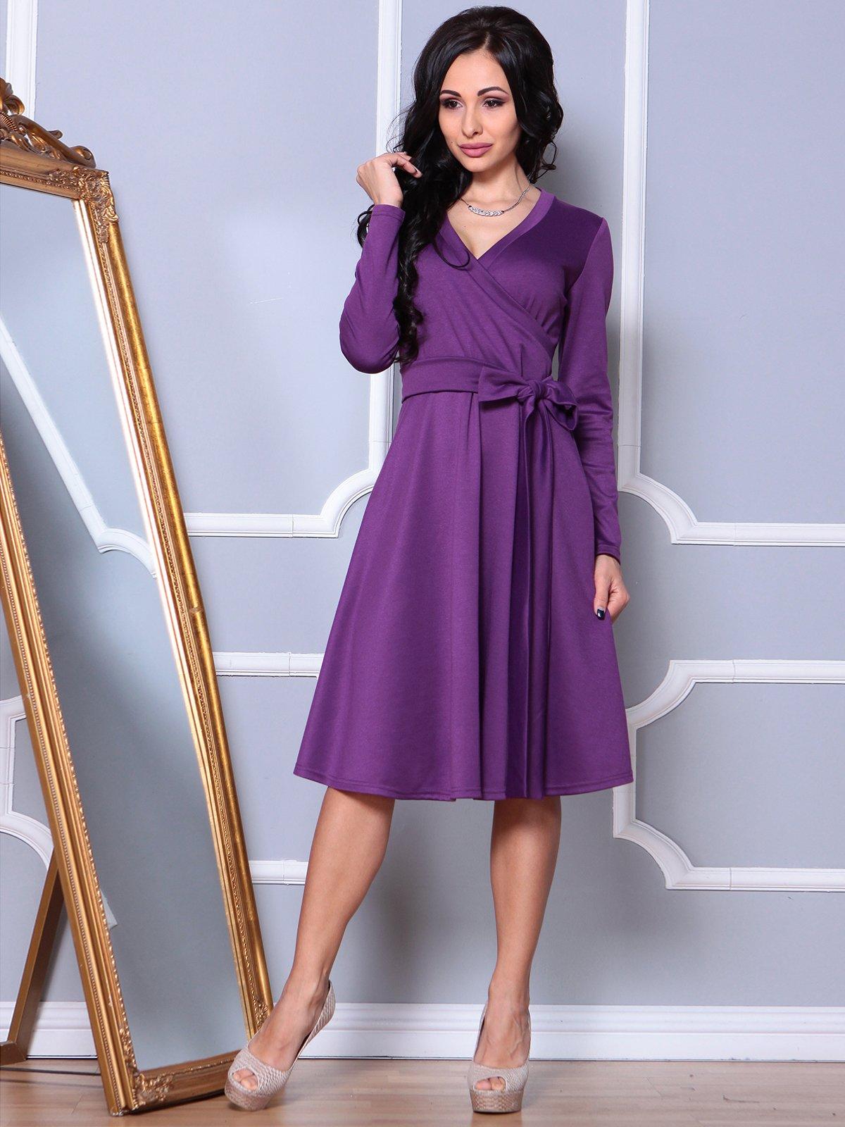 Сукня темно-фіалкового кольору | 3908201