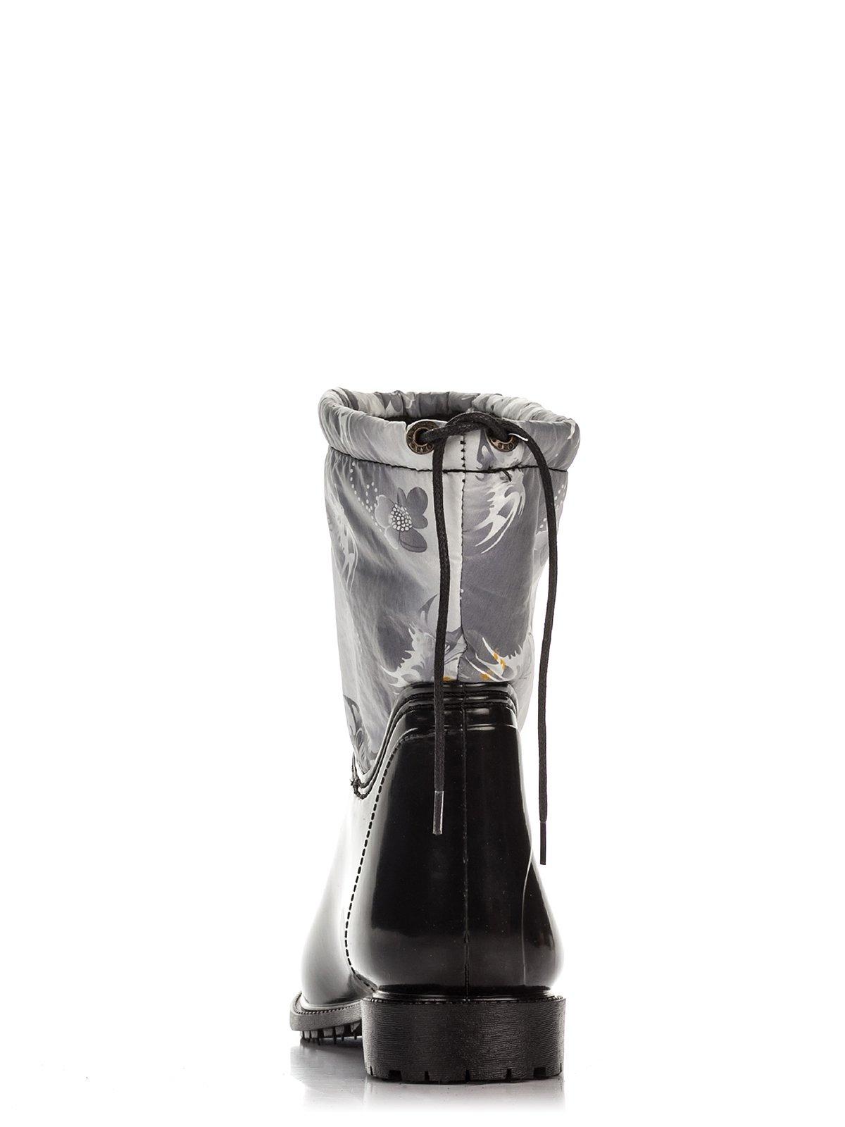 Сапоги черные с принтом | 3908648 | фото 3