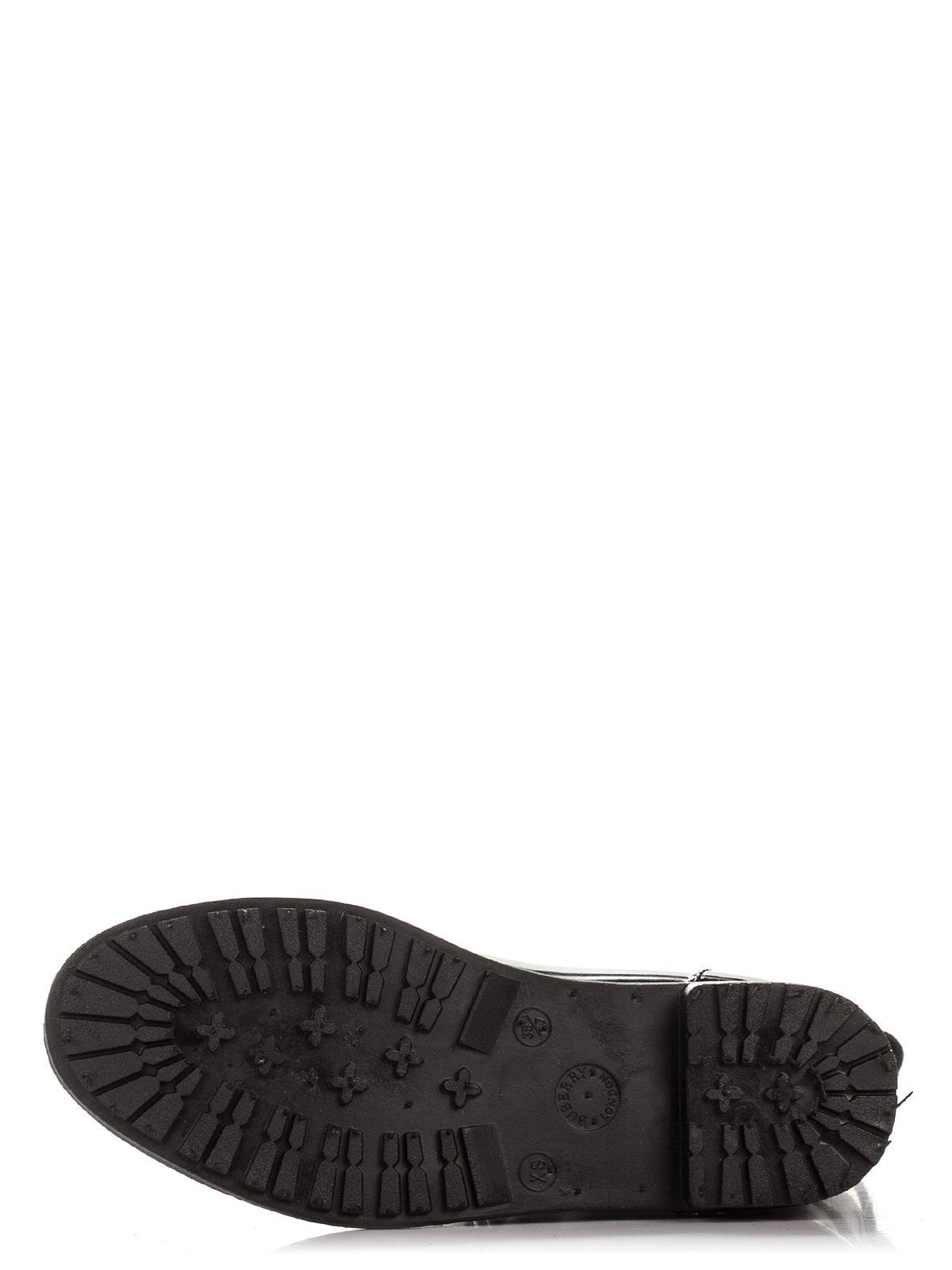 Сапоги черные с принтом | 3908648 | фото 4