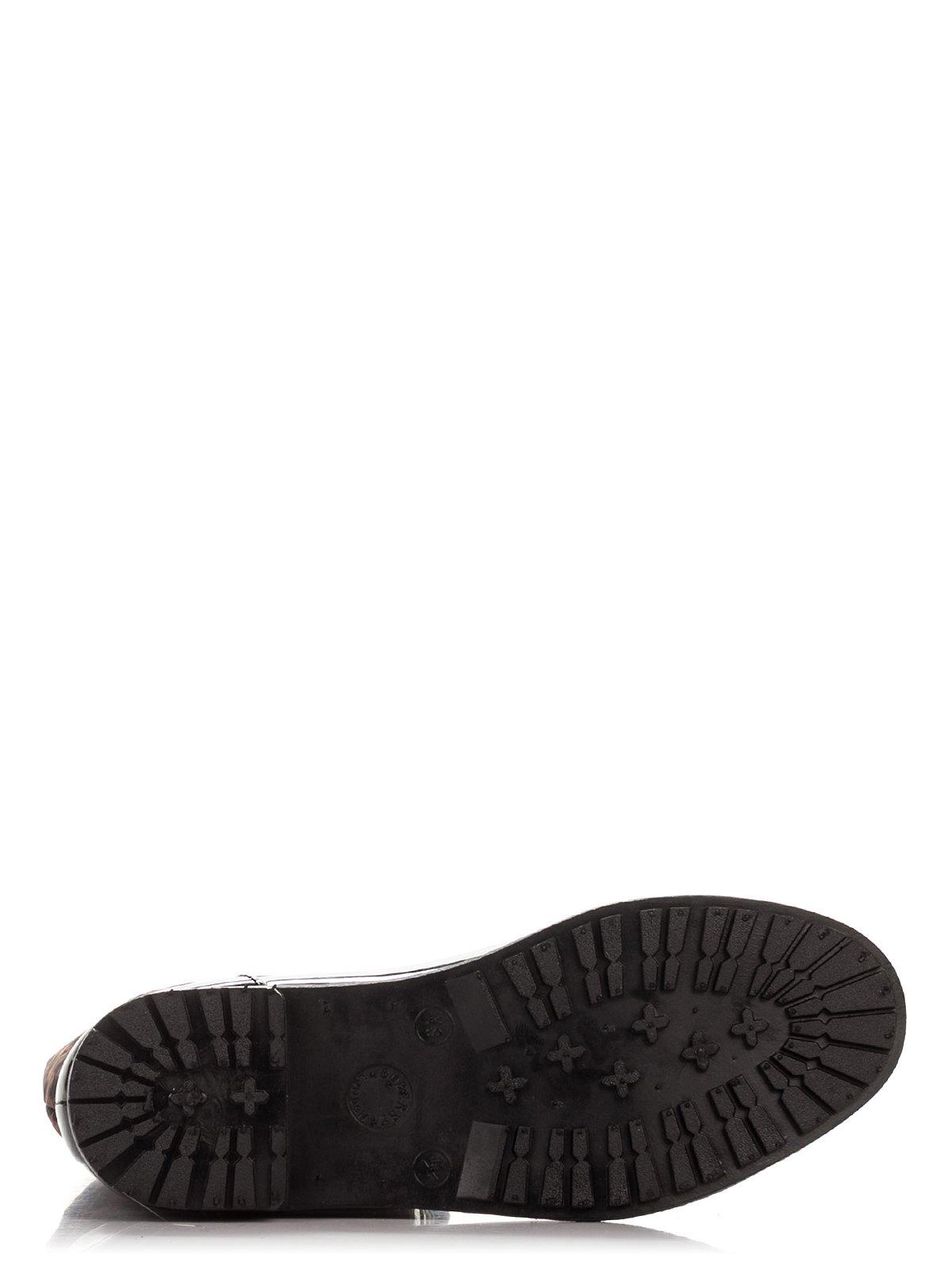 Сапоги черные с анималистическим принтом | 3908655 | фото 4