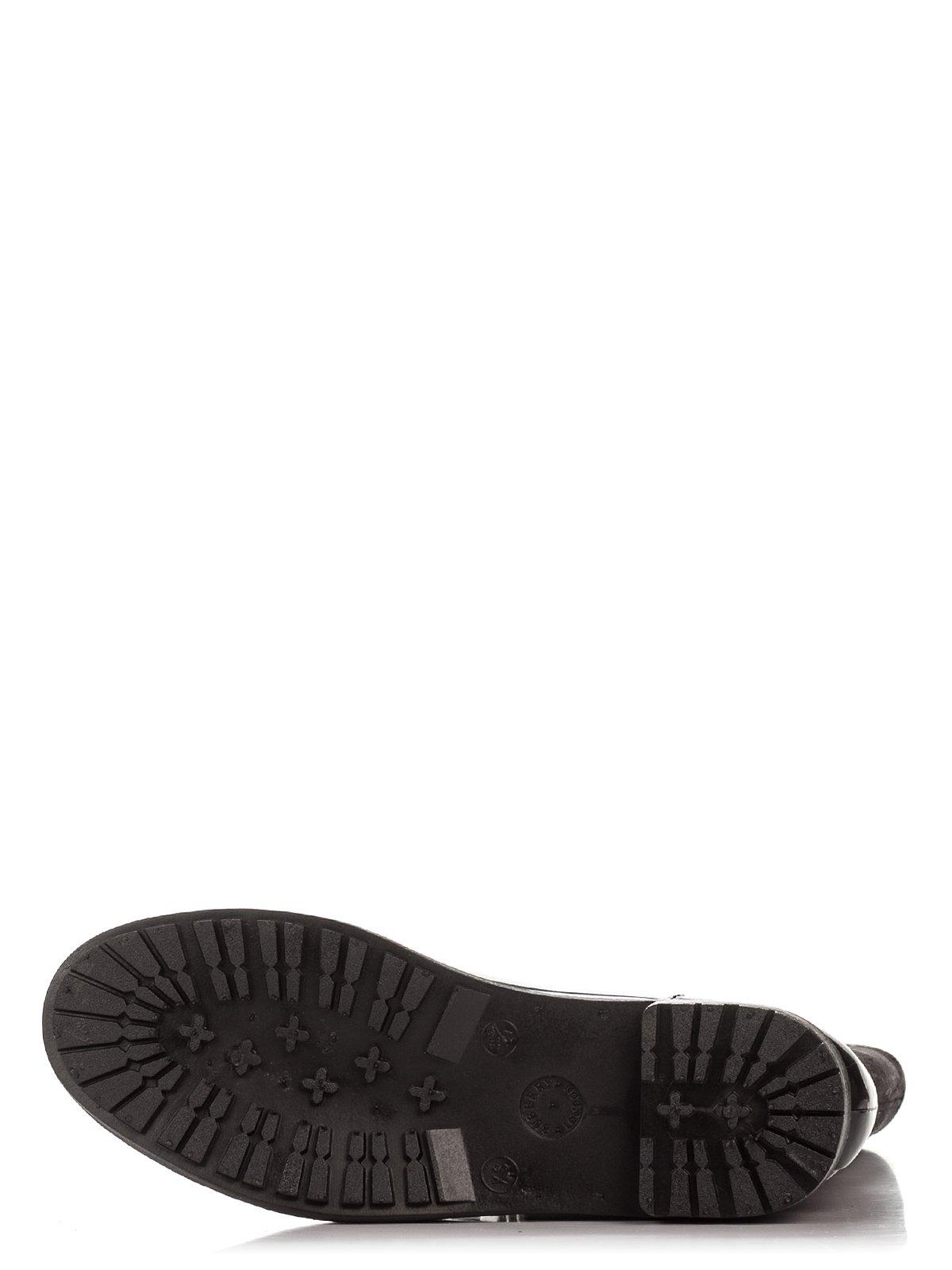 Сапоги черные комбинированные | 1384837 | фото 4