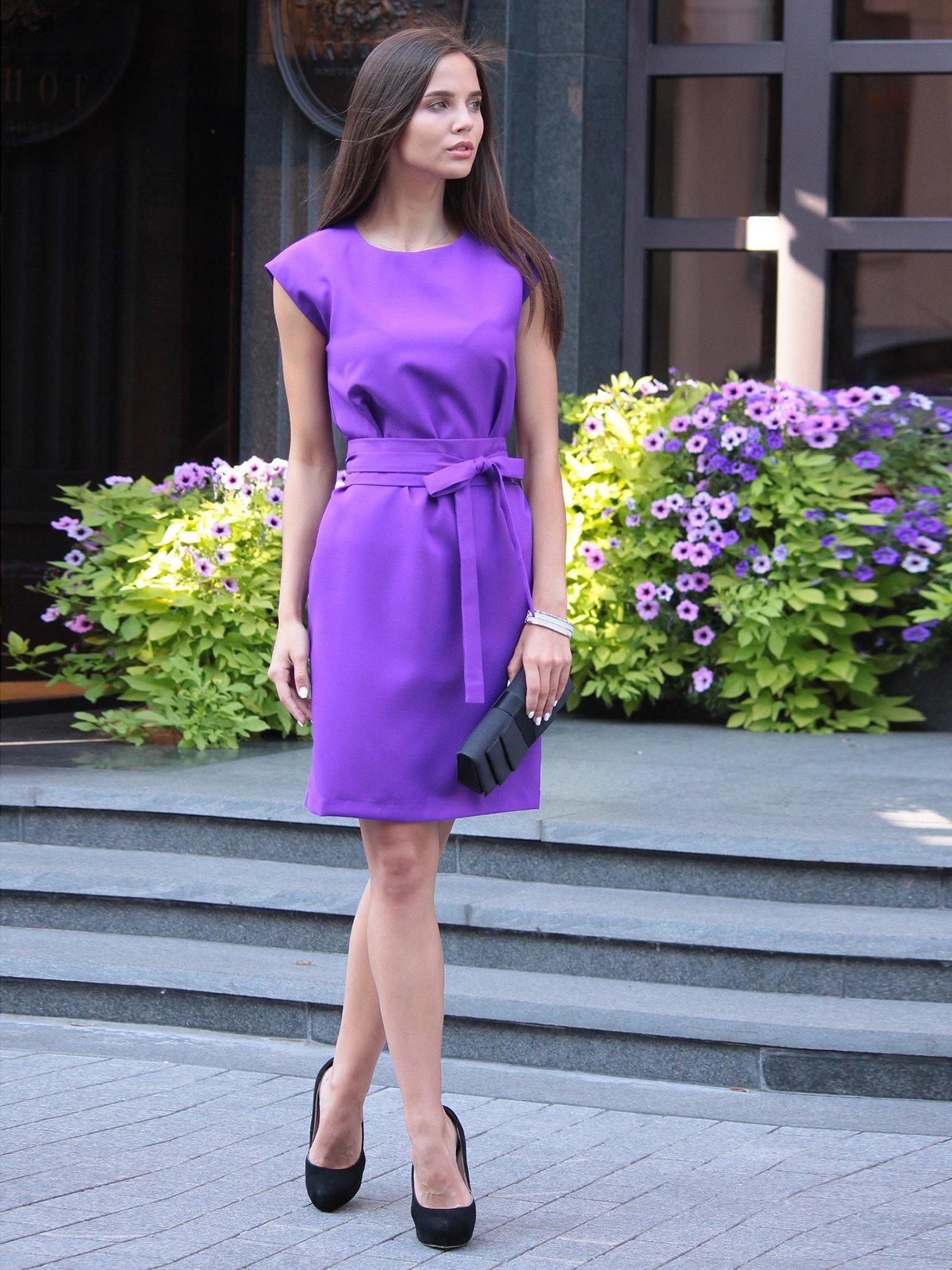 Платье фиалкового цвета | 1969909 | фото 2