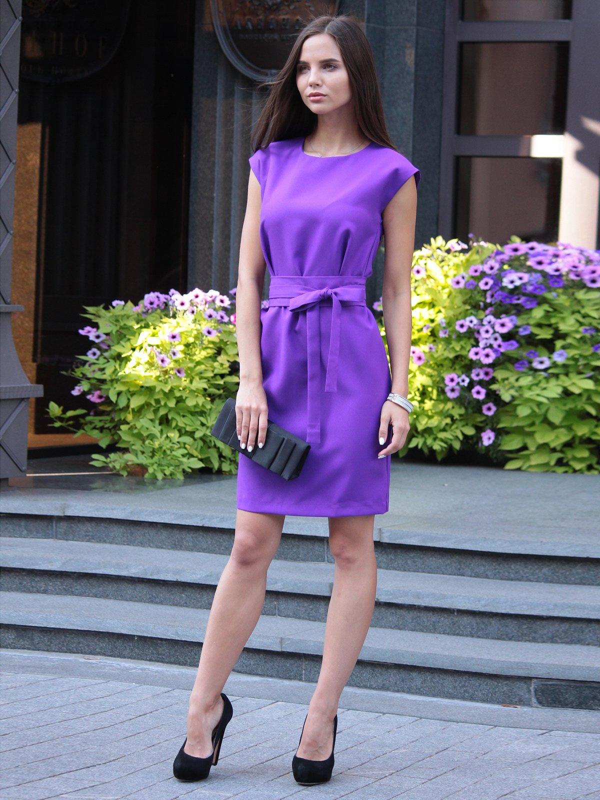 Платье фиалкового цвета | 1969909 | фото 3