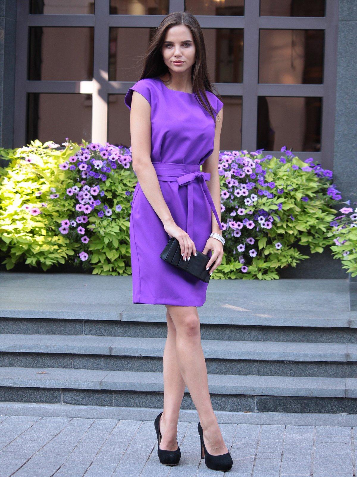 Платье фиалкового цвета | 1969909 | фото 4