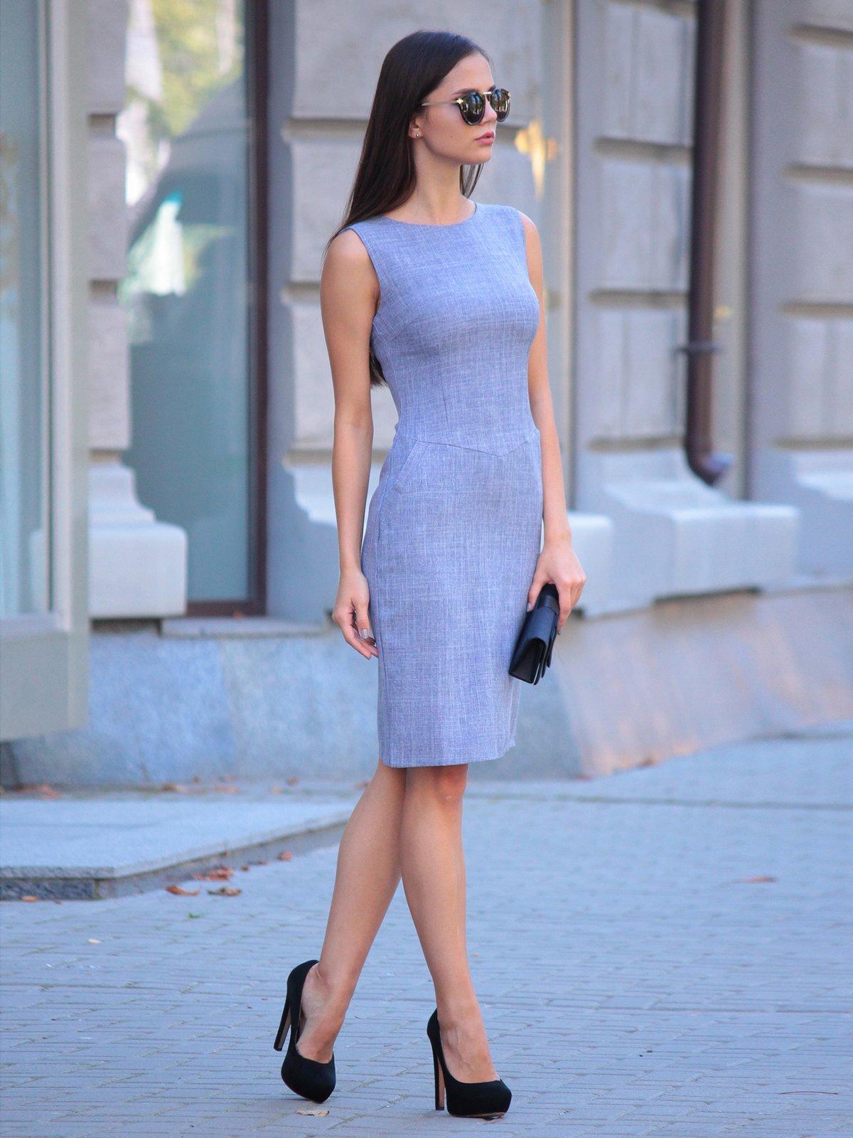 Платье цвета фиолетовой дымки | 2434431 | фото 3